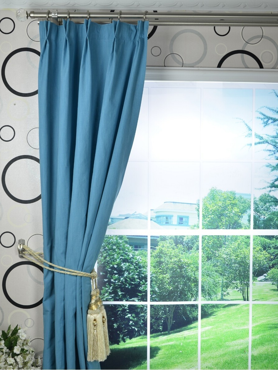 Solid Cotton Pleated Curtains Intended For Latest Us $ (View 4 of 20)
