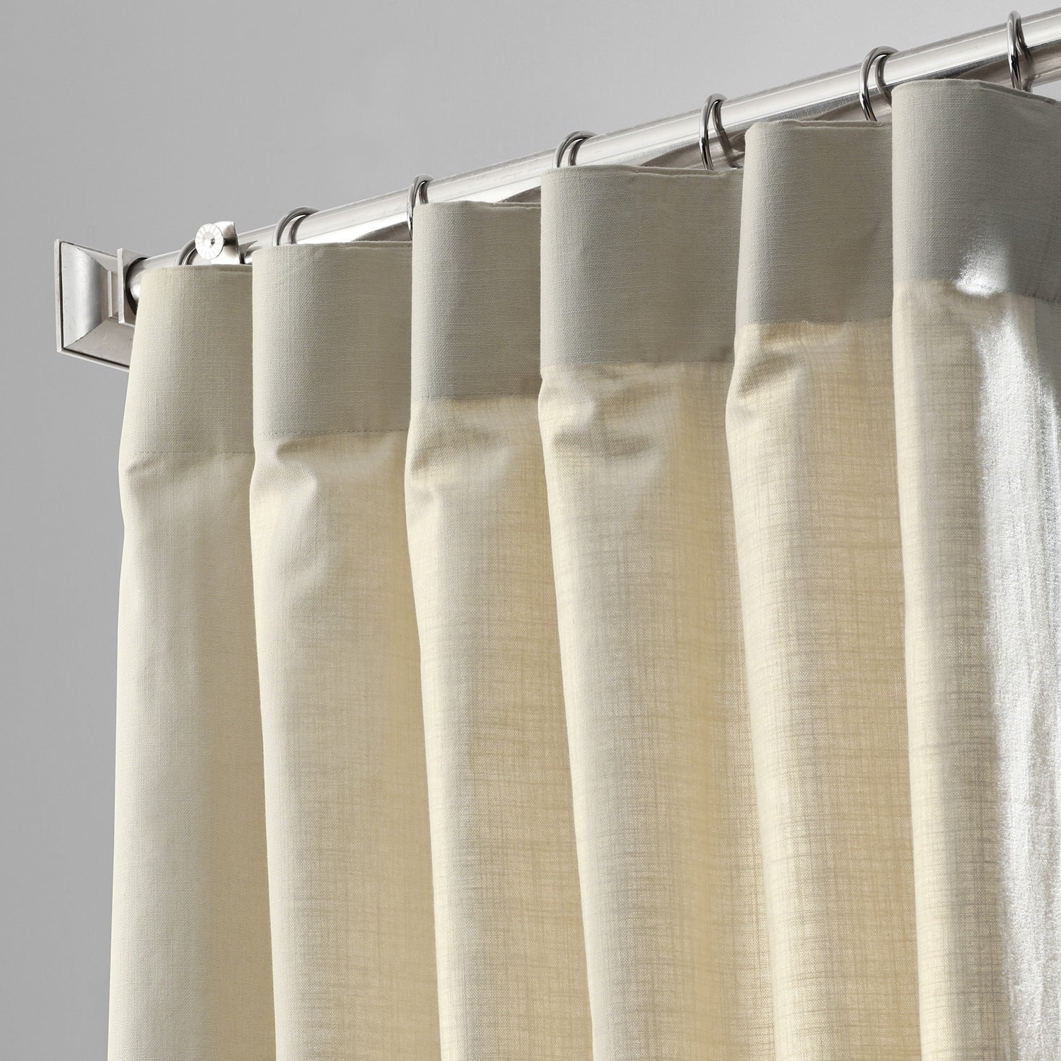 Solid Country Cotton Linen Weave Curtain Panels Inside Popular Exclusive Fabrics Solid Country Cotton Linen Weave Curtain Panel (View 14 of 20)