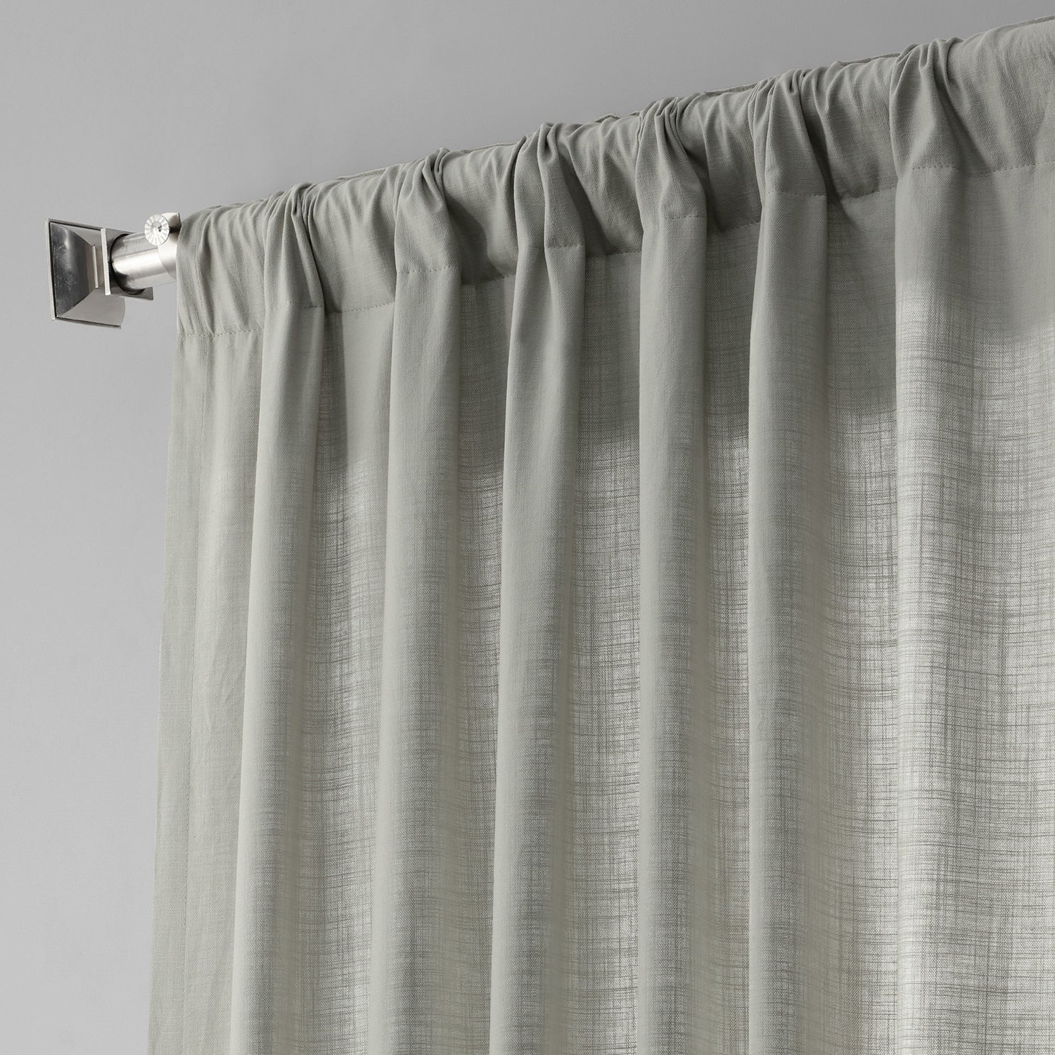 Solid Country Cotton Linen Weave Curtain Panels With Regard To Favorite Exclusive Fabrics Solid Country Cotton Linen Weave Curtain Panel (View 8 of 20)