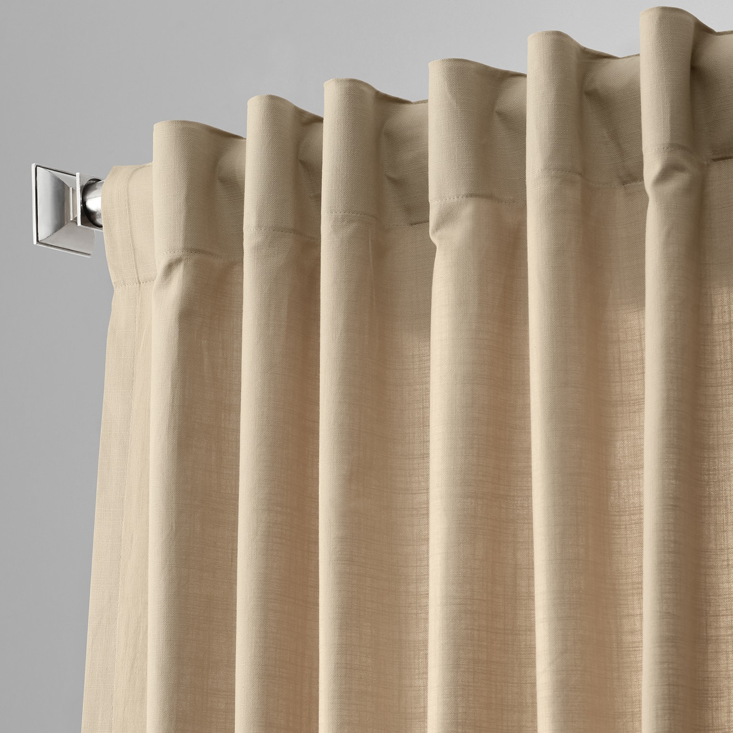 Solid Country Cotton Linen Weave Curtain Panels With Regard To Widely Used Details About Country Cotton Linen Weave Curtains (Sold Per Panel) (View 19 of 20)