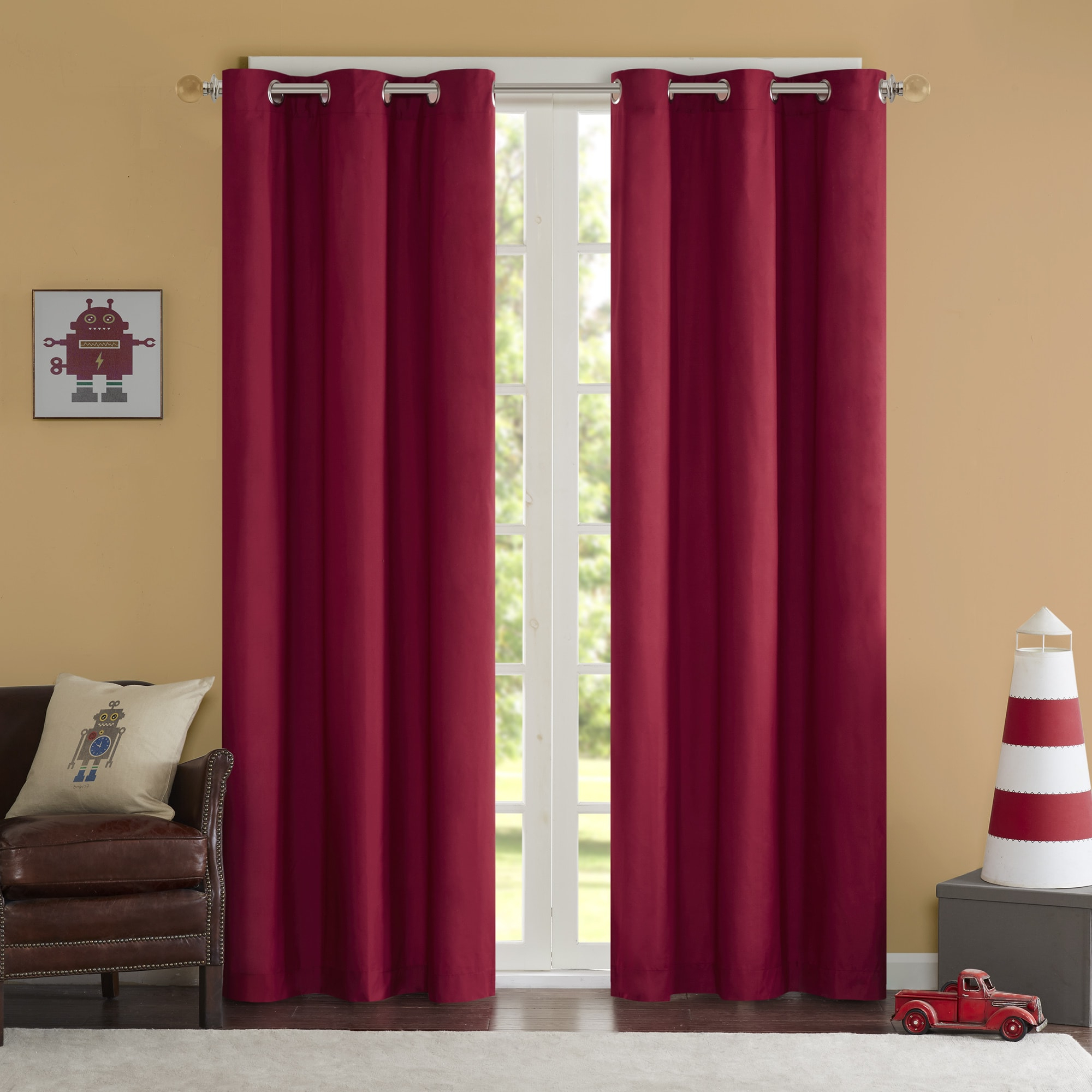 Solid Grommet Top Curtain Panel Pairs With Regard To Best And Newest Home Essence Teen Edson Solid Grommet Top Curtain Panel Pair (View 17 of 20)
