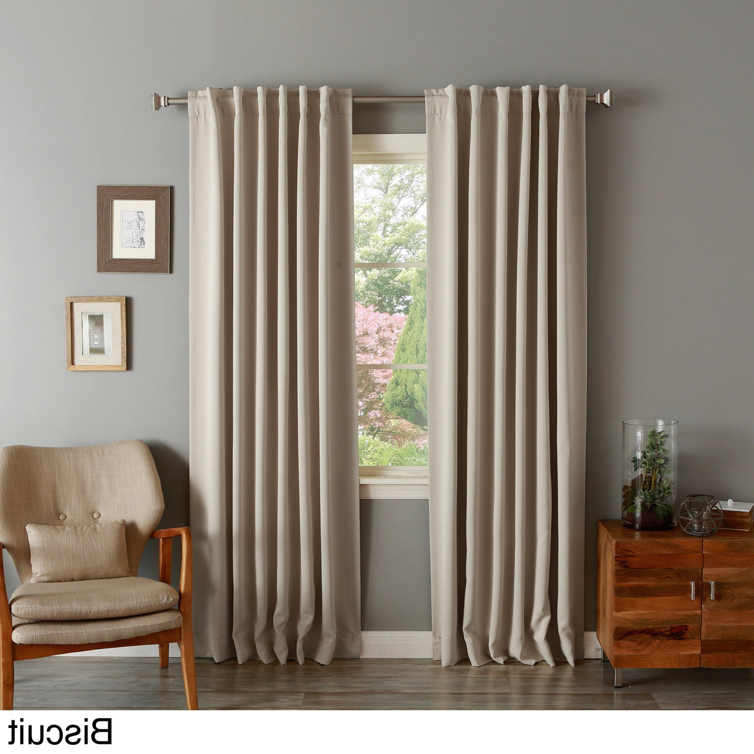 Solid Insulated Thermal Blackout Curtain Panel Pair Inside Famous Solid Thermal Insulated Blackout Curtain Panel Pairs (View 2 of 20)