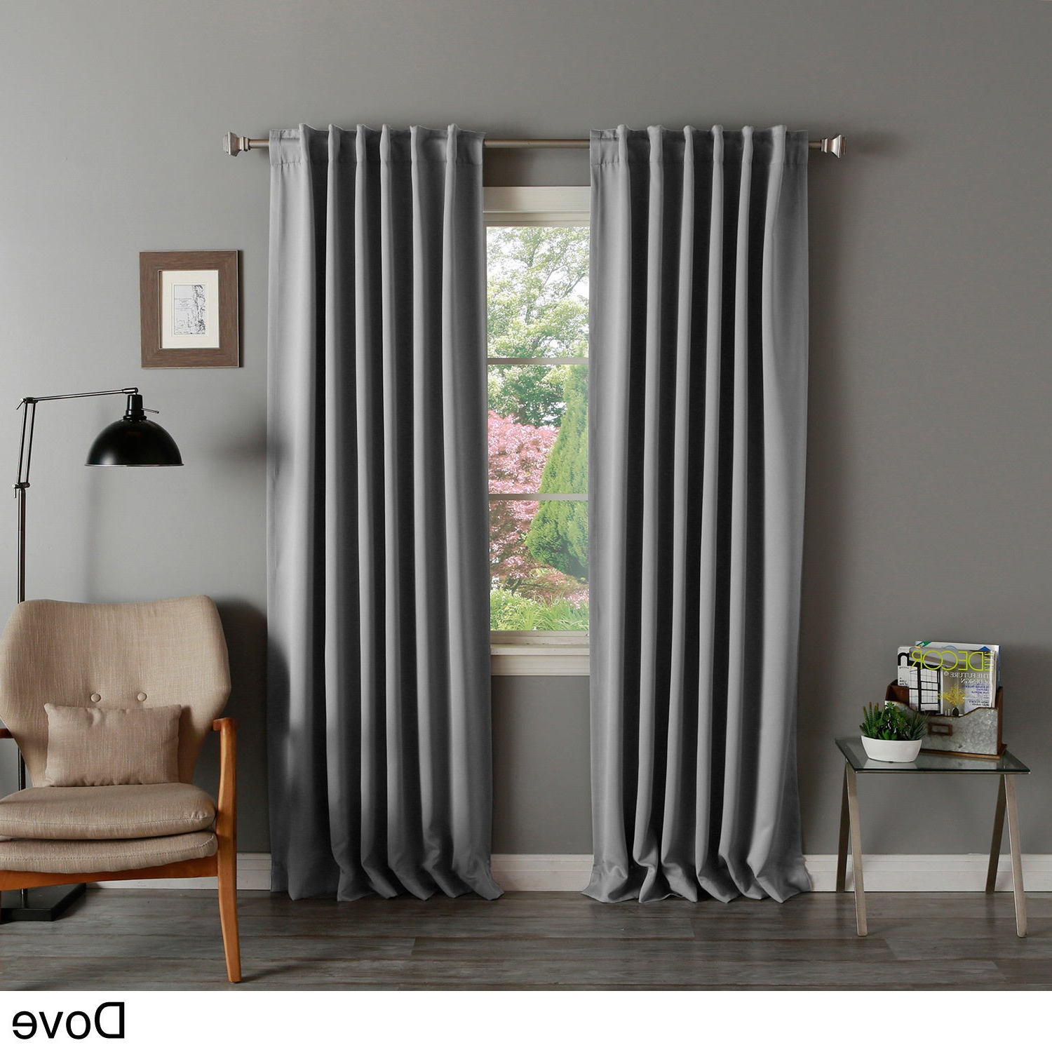 Solid Insulated Thermal Blackout Curtain Panel Pair Intended For Famous Solid Insulated Thermal Blackout Curtain Panel Pairs (View 2 of 20)
