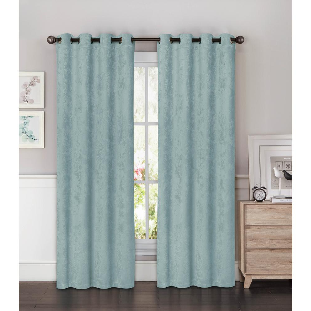 Solid Insulated Thermal Blackout Curtain Panel Pairs Inside 2020 Bella Luna Blackout Faux Suede Extra Wide 96 In (View 12 of 20)