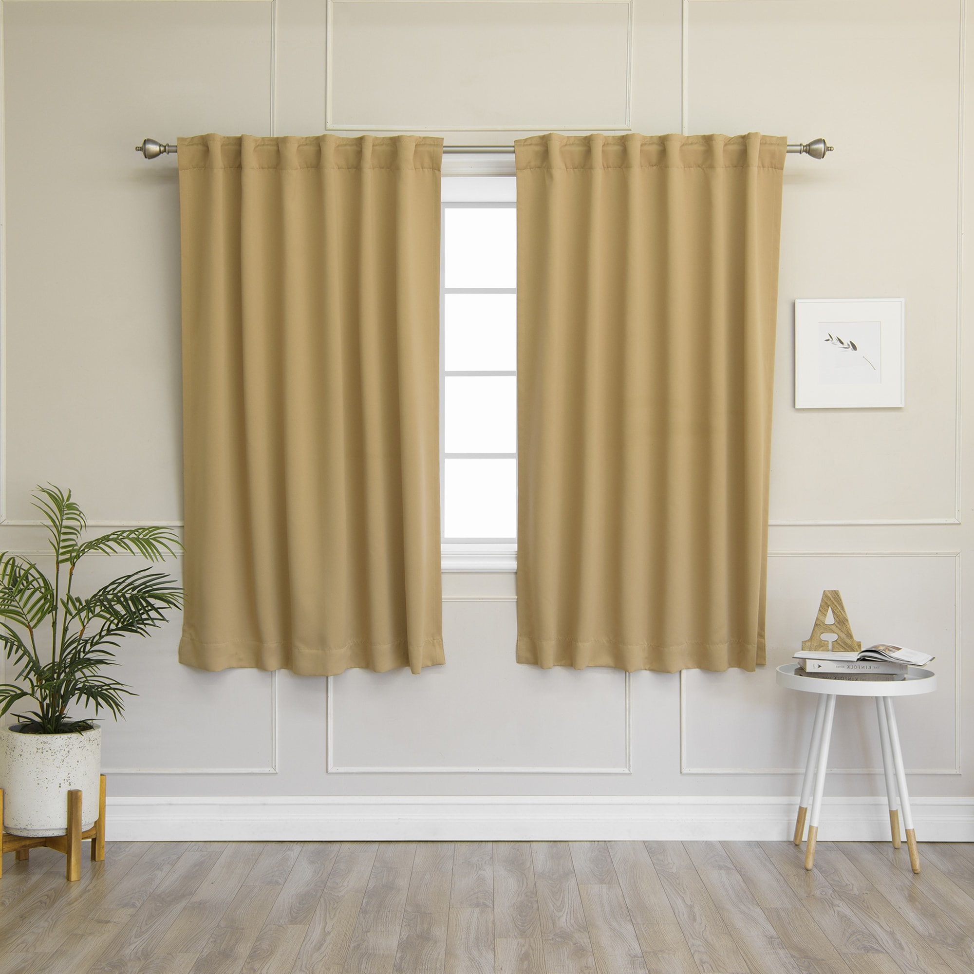 Solid Insulated Thermal Blackout Curtain Panel Pairs Pertaining To Widely Used Aurora Home Solid Insulated Thermal 63 Inch Blackout Curtain (View 13 of 20)