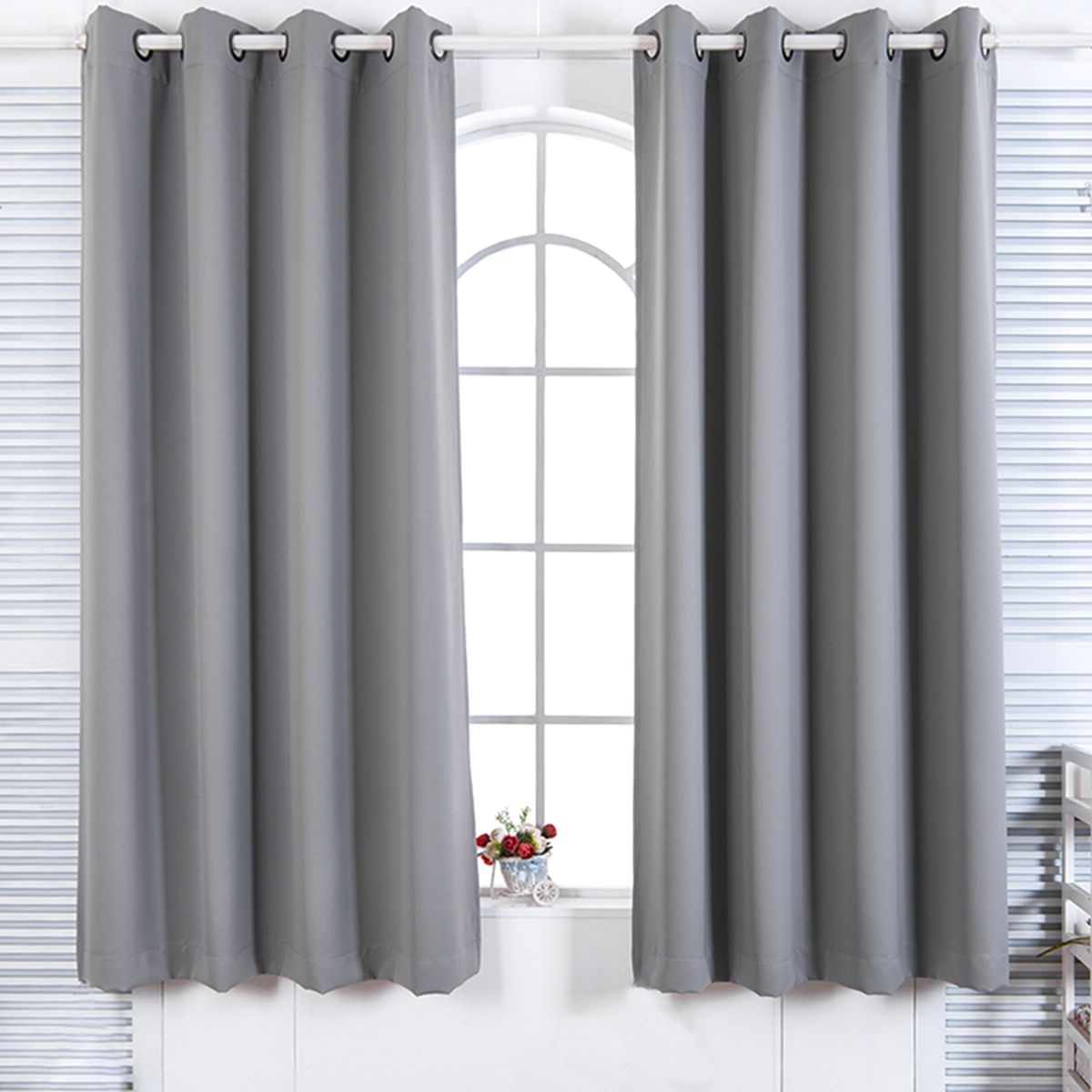 "Solid Insulated Thermal Blackout Curtain Panel Pairs Throughout Latest Details About 84"" Lamia Premium Solid Insulated Thermal Blackout Grommet  Window Panelseleg (View 15 of 20)"