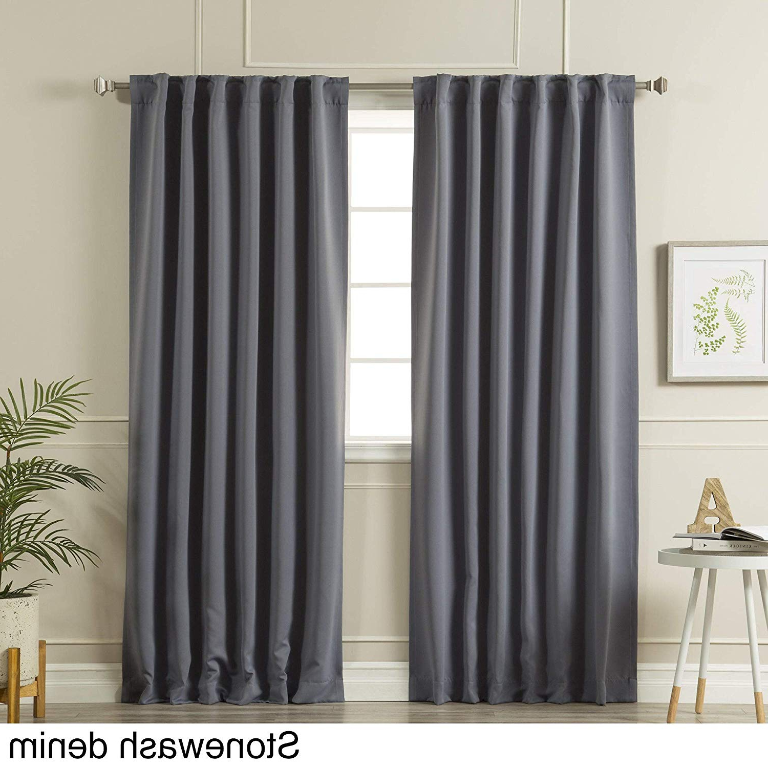 Solid Insulated Thermal Blackout Curtain Panel Pairs Within Recent Amazon: Aurora Home Solid Insulated Thermal Blackout (View 7 of 20)