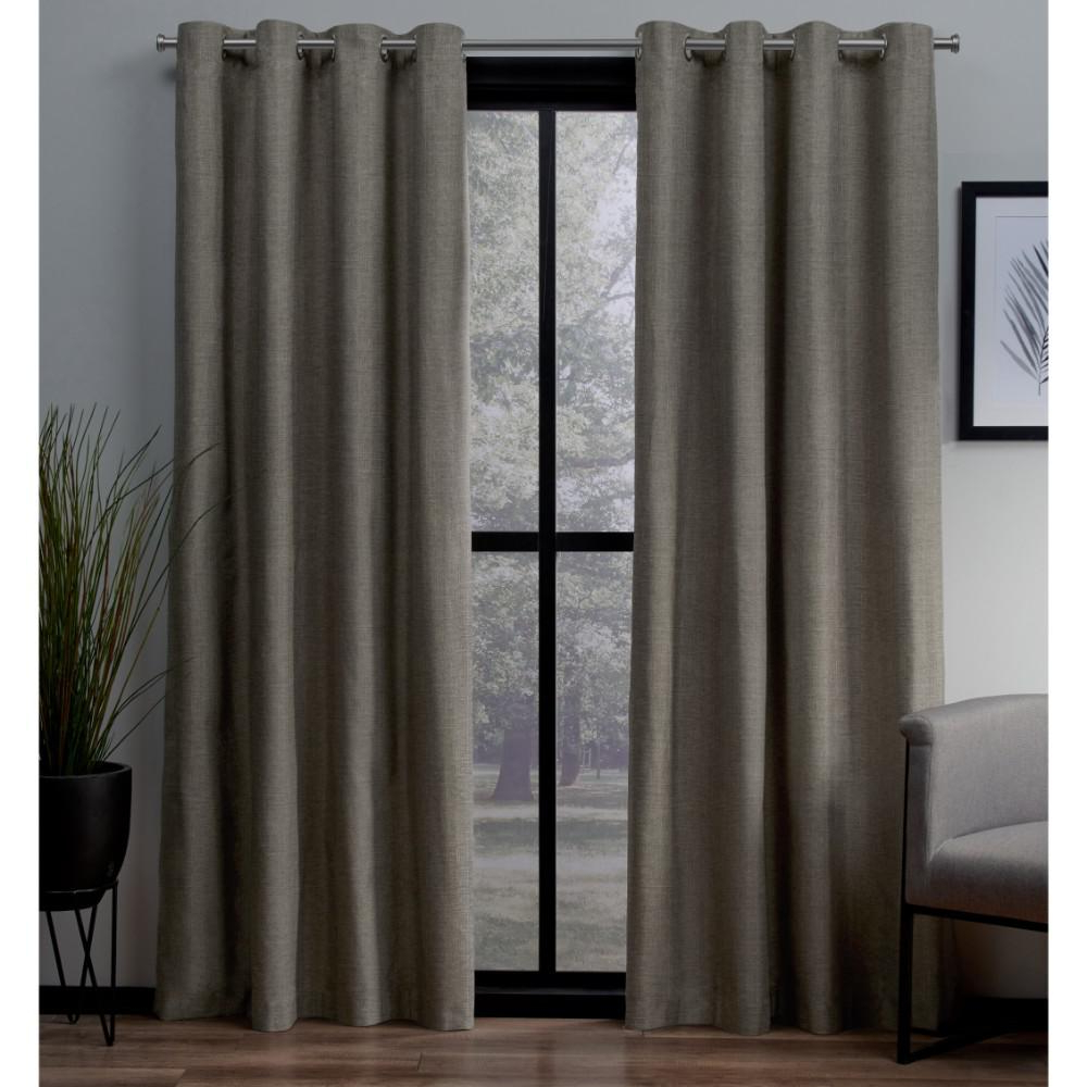 Solid Insulated Thermal Blackout Long Length Curtain Panel Pairs Regarding Popular London 54 In. W X 96 In (View 19 of 20)