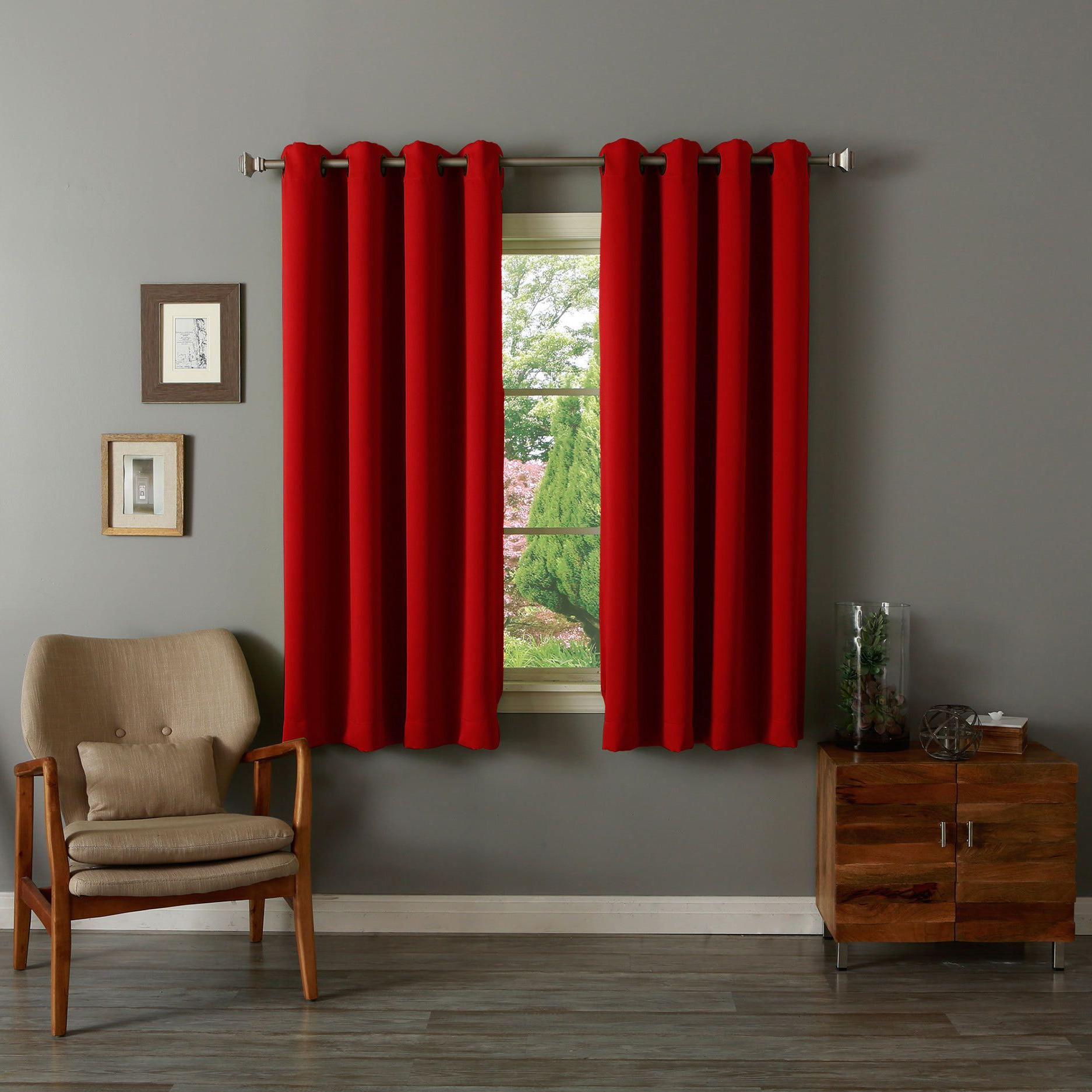 Solid Insulated Thermal Blackout Long Length Curtain Panel Pairs With Favorite Aurora Home Grommet Top Thermal Insulated Blackout 64 Inch (View 4 of 20)
