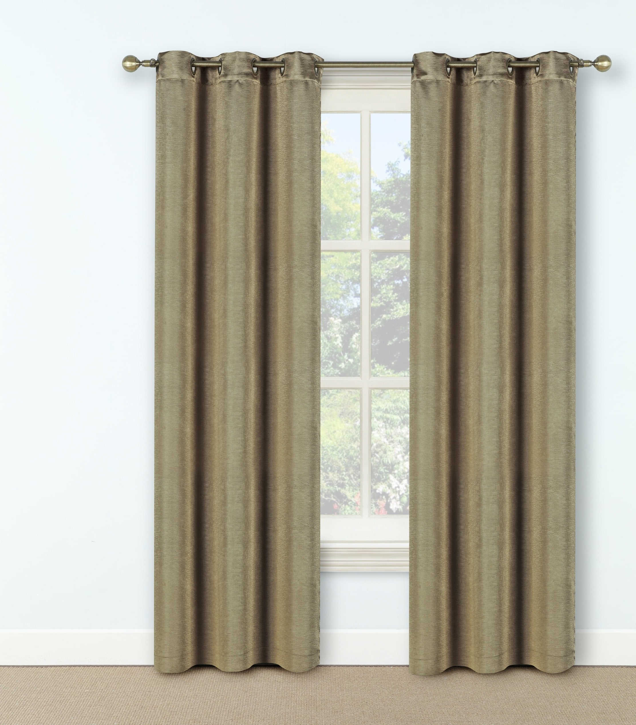 Steubenville Solid Max Blackout Thermal Grommet Single Curtain Panel Intended For Most Recent Luxury Collection Faux Leather Blackout Single Curtain Panels (View 18 of 20)