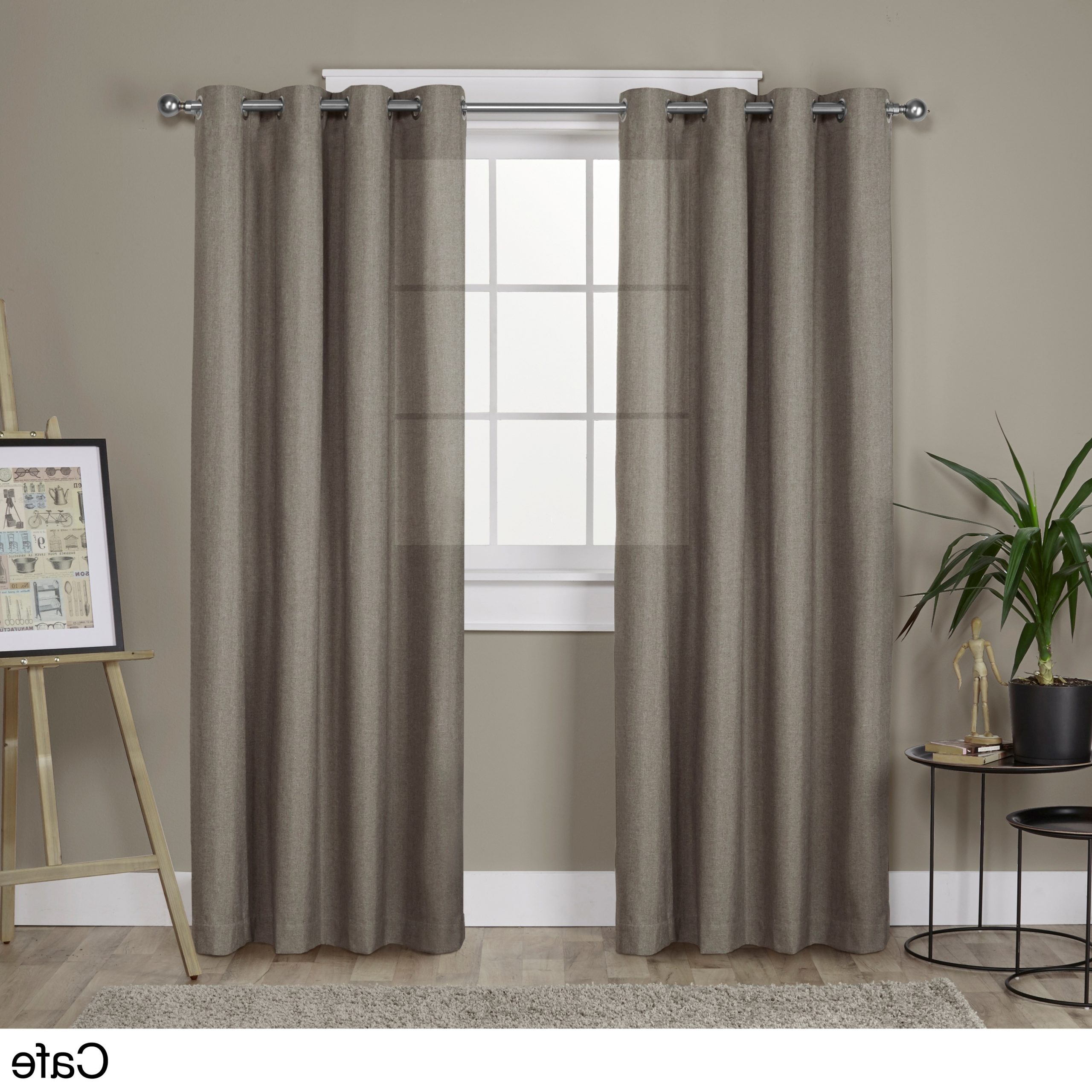 Sugar Creek Grommet Top Loha Linen Window Curtain Panel Pairs For Popular Porch & Den Sugar Creek Grommet Top Loha Linen Window (View 14 of 20)