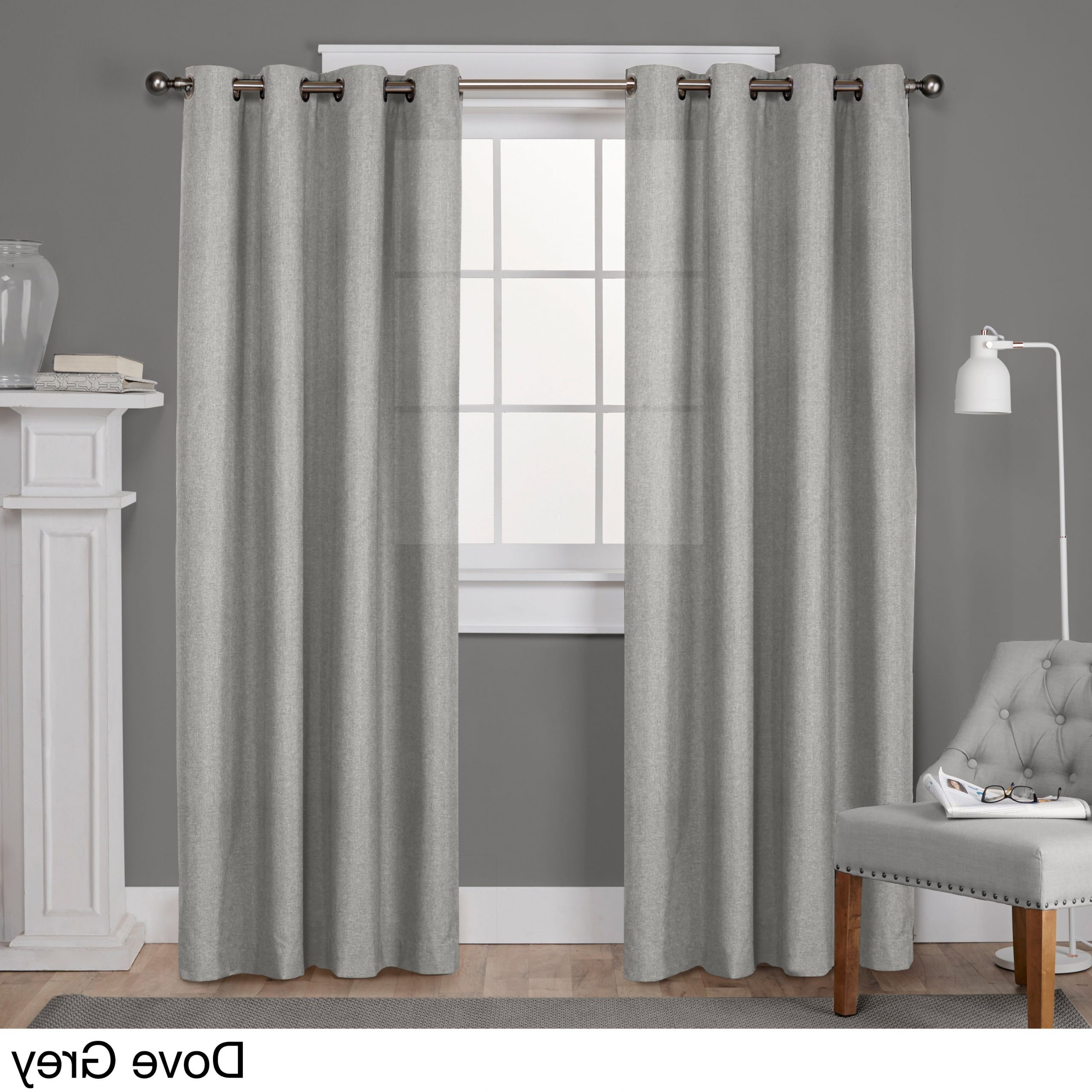 Sugar Creek Grommet Top Loha Linen Window Curtain Panel Pairs For Preferred Porch & Den Sugar Creek Grommet Top Loha Linen Window Curtain Panel Pair In  Winter White (52X63)(As Is Item) (View 15 of 20)