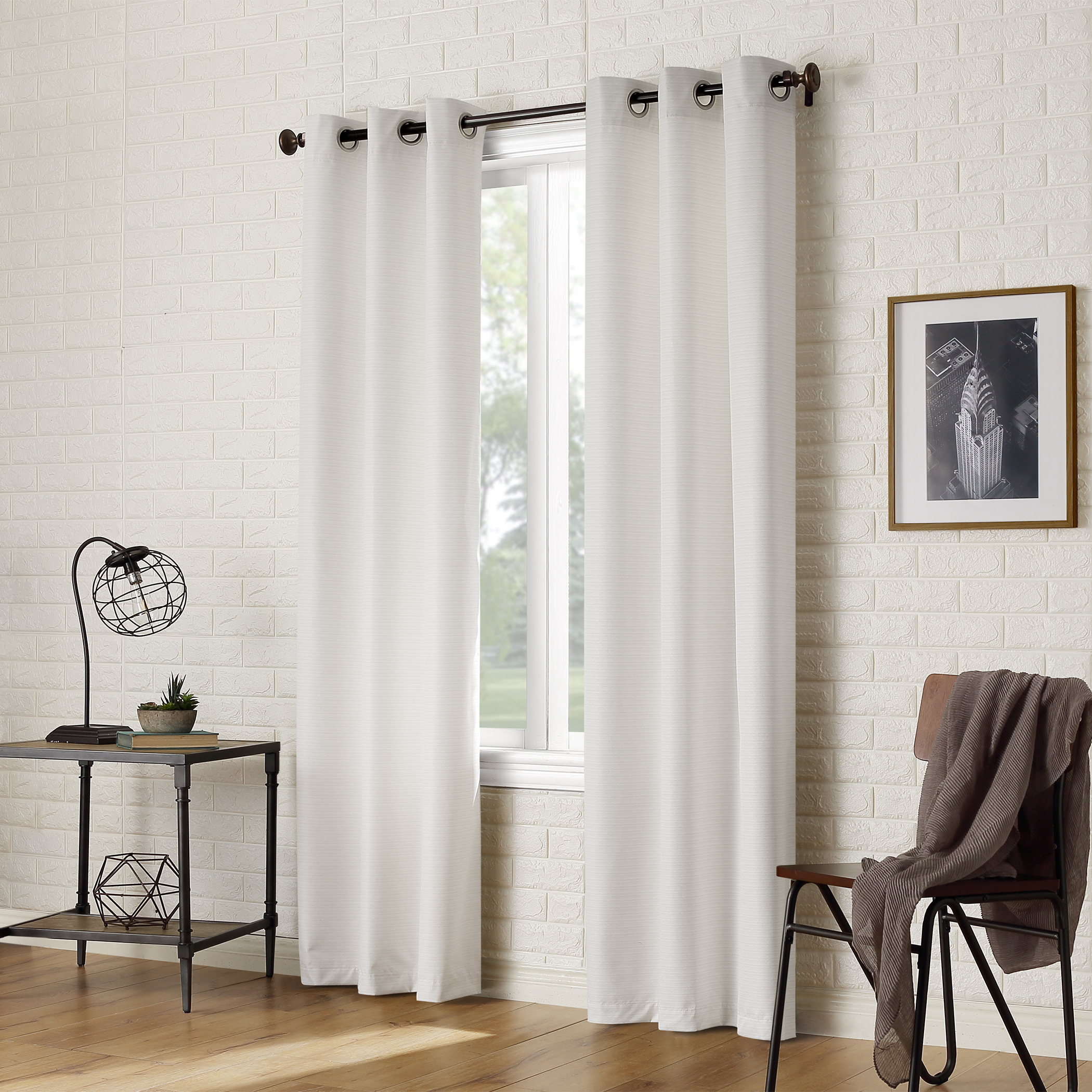 Sun Zero 2 Pack Arlo Textured Thermal Insulated Grommet For Most Recently Released Thermal Textured Linen Grommet Top Curtain Panel Pairs (View 18 of 20)