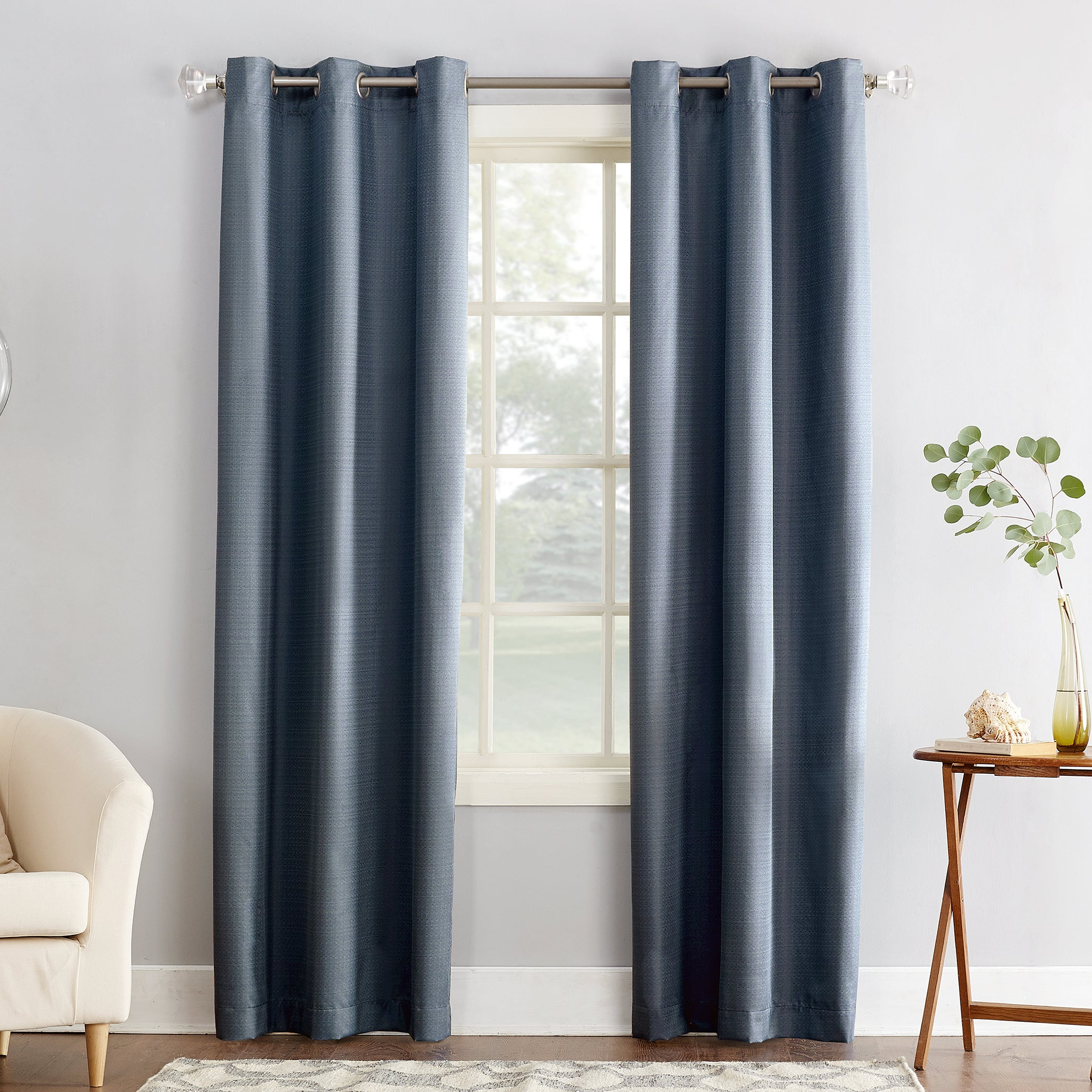 Sun Zero Cooper Textured Thermal Insulated Grommet Curtain Panel For Favorite Geometric Print Textured Thermal Insulated Grommet Curtain Panels (View 3 of 20)