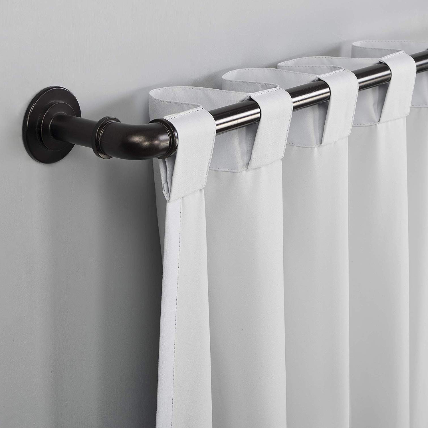 "[%sun Zero Cyrus Thermal 100% Blackout Back Tab Curtain Panel, 40"" X 84"", White Throughout Most Up To Date Cyrus Thermal Blackout Back Tab Curtain Panels