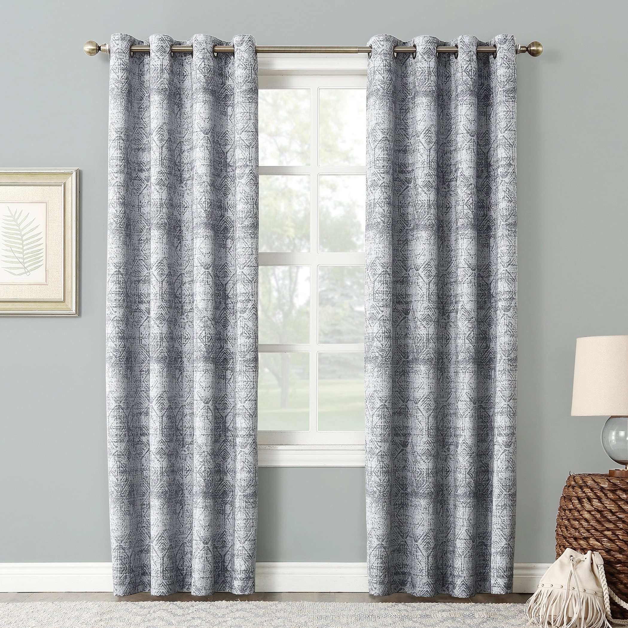 Sun Zero Darren Distressed Global Blackout Lined Grommet Curtain Panel For Well Known Lined Grommet Curtain Panels (View 6 of 20)