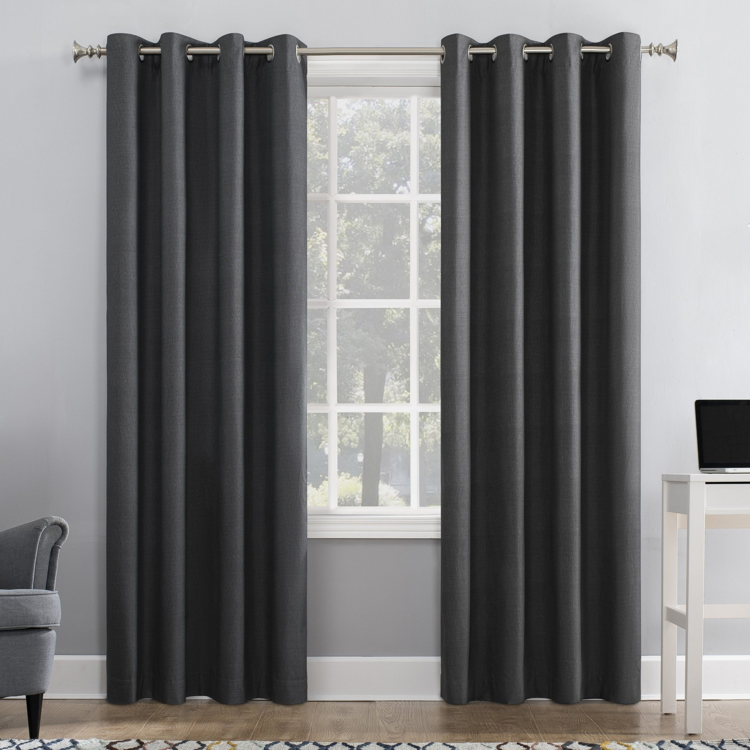 [%Sun Zero Duran Thermal Insulated 100% Blackout Grommet Curtain Panel In Widely Used Duran Thermal Insulated Blackout Grommet Curtain Panels|Duran Thermal Insulated Blackout Grommet Curtain Panels With Regard To Favorite Sun Zero Duran Thermal Insulated 100% Blackout Grommet Curtain Panel|Current Duran Thermal Insulated Blackout Grommet Curtain Panels For Sun Zero Duran Thermal Insulated 100% Blackout Grommet Curtain Panel|Most Recent Sun Zero Duran Thermal Insulated 100% Blackout Grommet Curtain Panel Pertaining To Duran Thermal Insulated Blackout Grommet Curtain Panels%] (View 6 of 21)