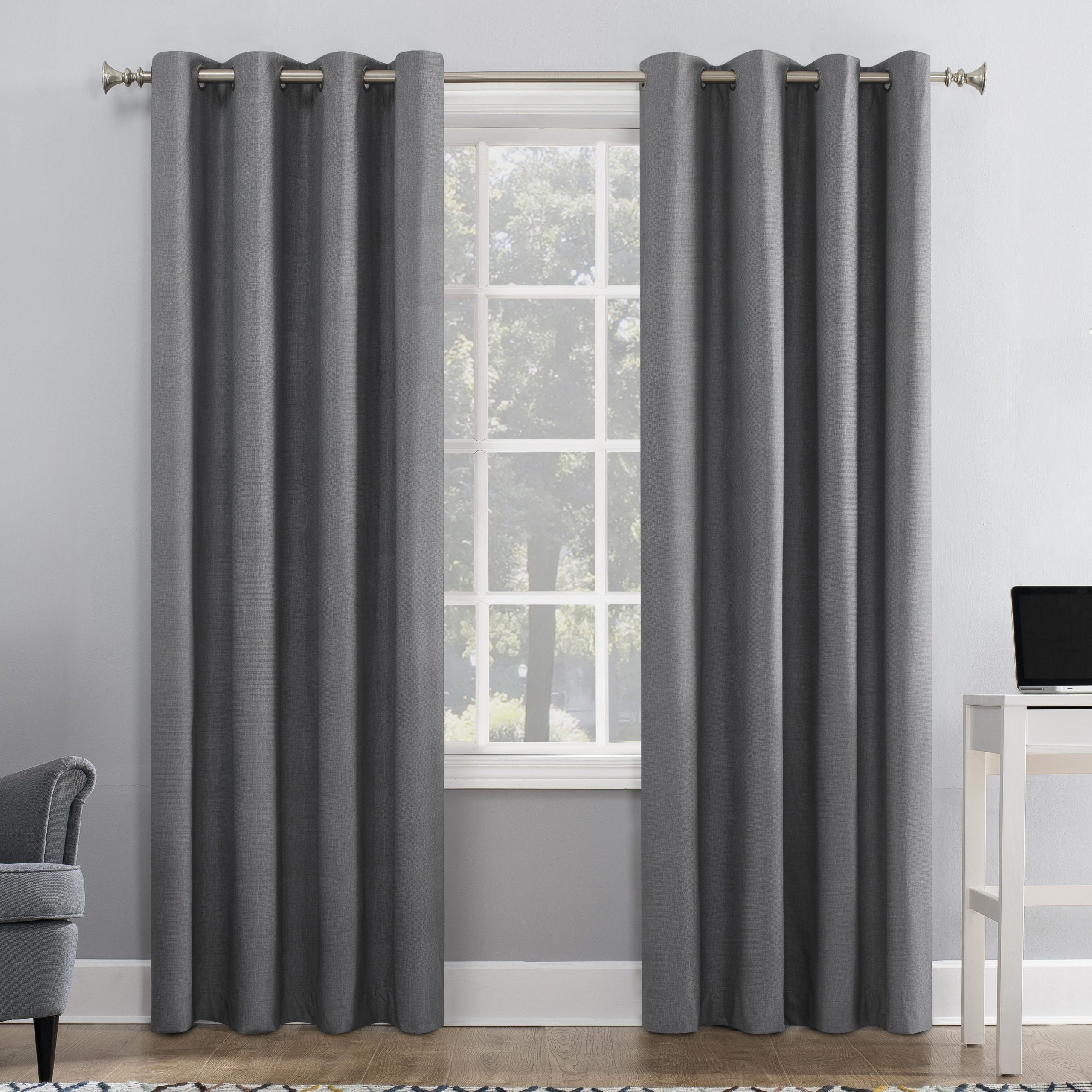 Featured Photo of Duran Thermal Insulated Blackout Grommet Curtain Panels