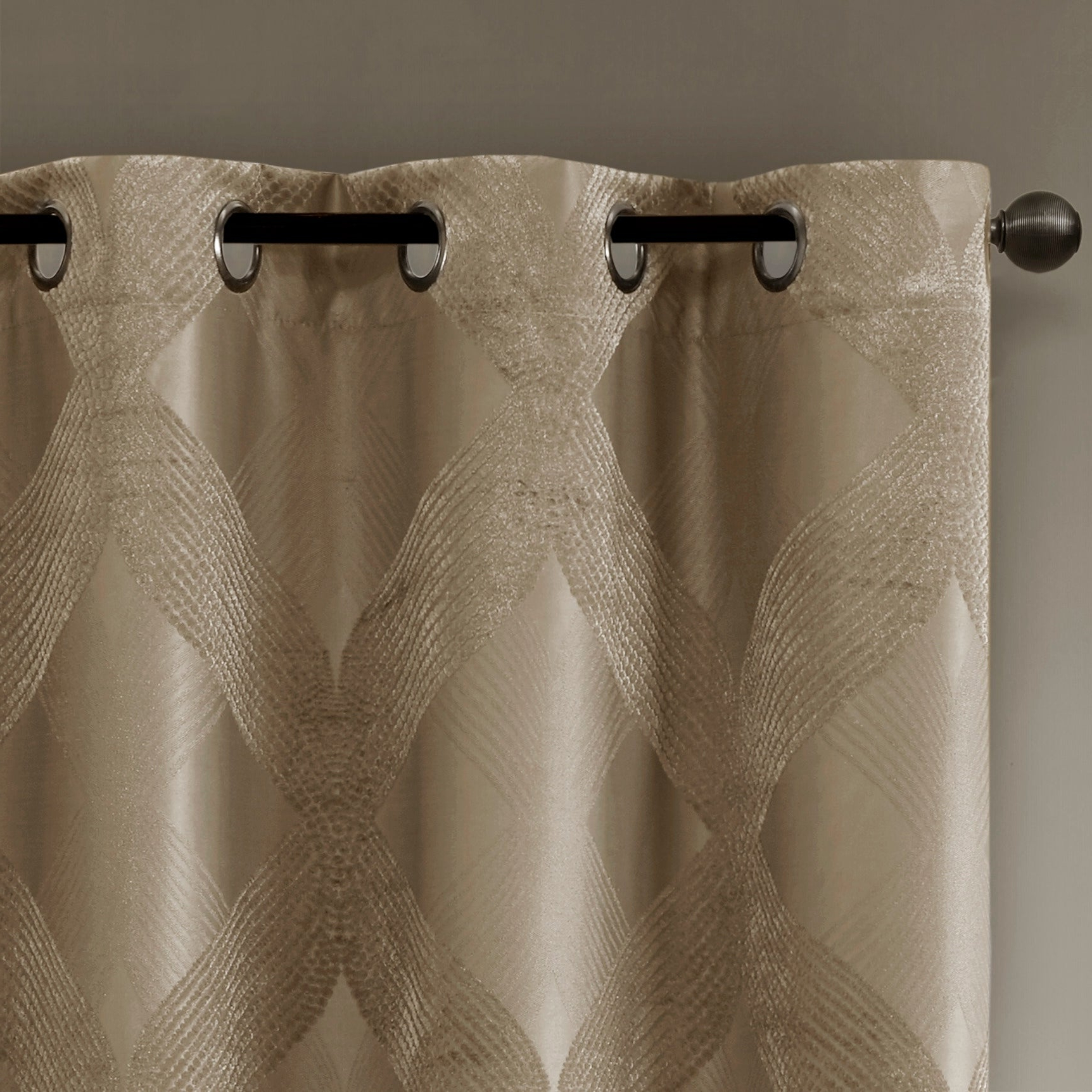 Sunsmart Abel Ogee Knitted Jacquard Total Blackout Curtain Panels In Latest Sunsmart Abel Ogee Knitted Jacquard Total Blackout Curtain Panel (View 11 of 20)
