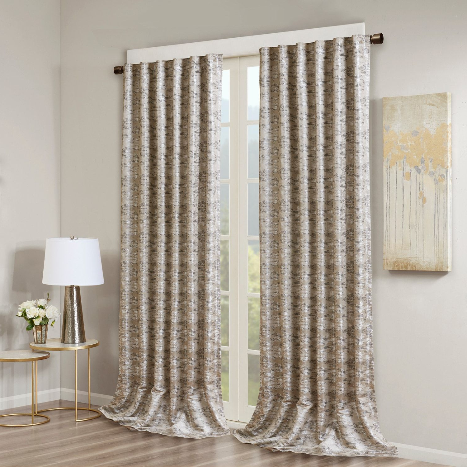 Sunsmart Blackout 1 Panel Odessa Total Window Curtain In With Regard To Widely Used Davis Patio Grommet Top Single Curtain Panels (View 18 of 20)