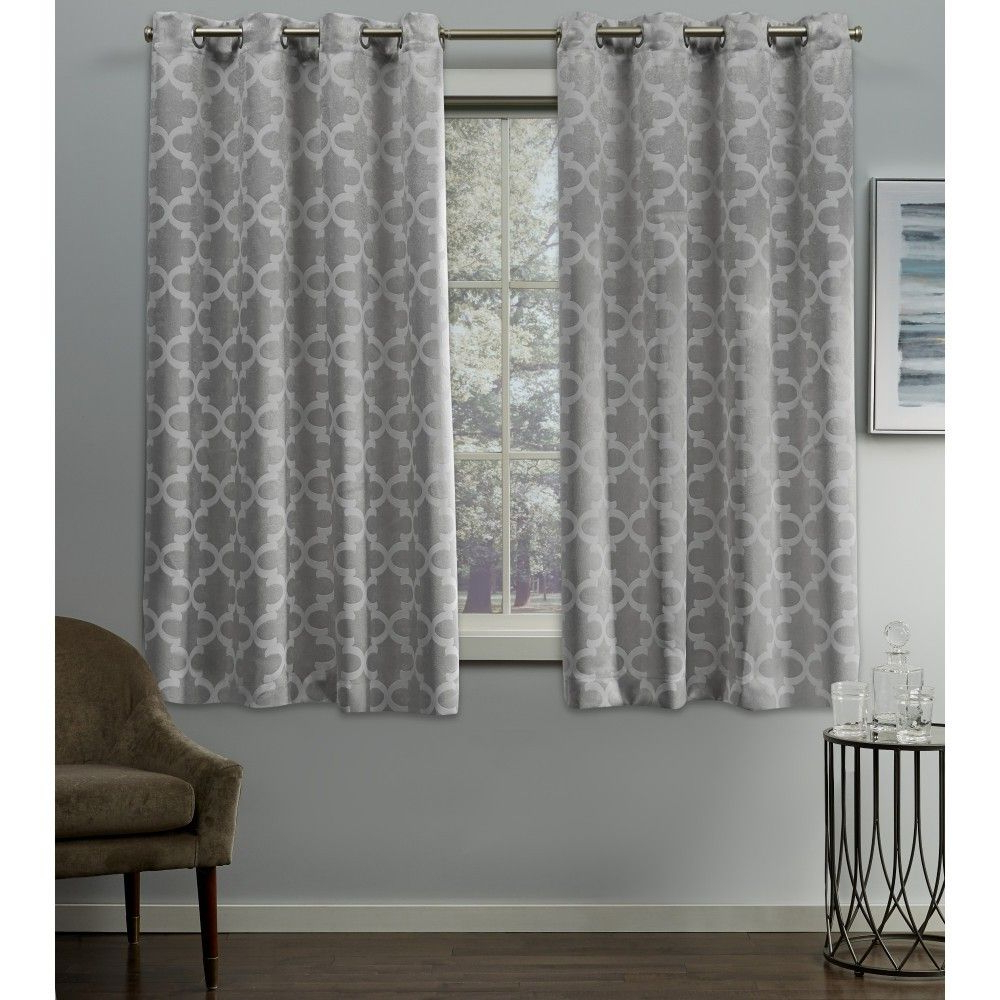 Sunsmart Dahlia Paisley Printed Total Blackout Single Window Curtain Panels Pertaining To Fashionable Cartago Insulated Woven Blackout Grommet Top Window Curtain (View 11 of 20)