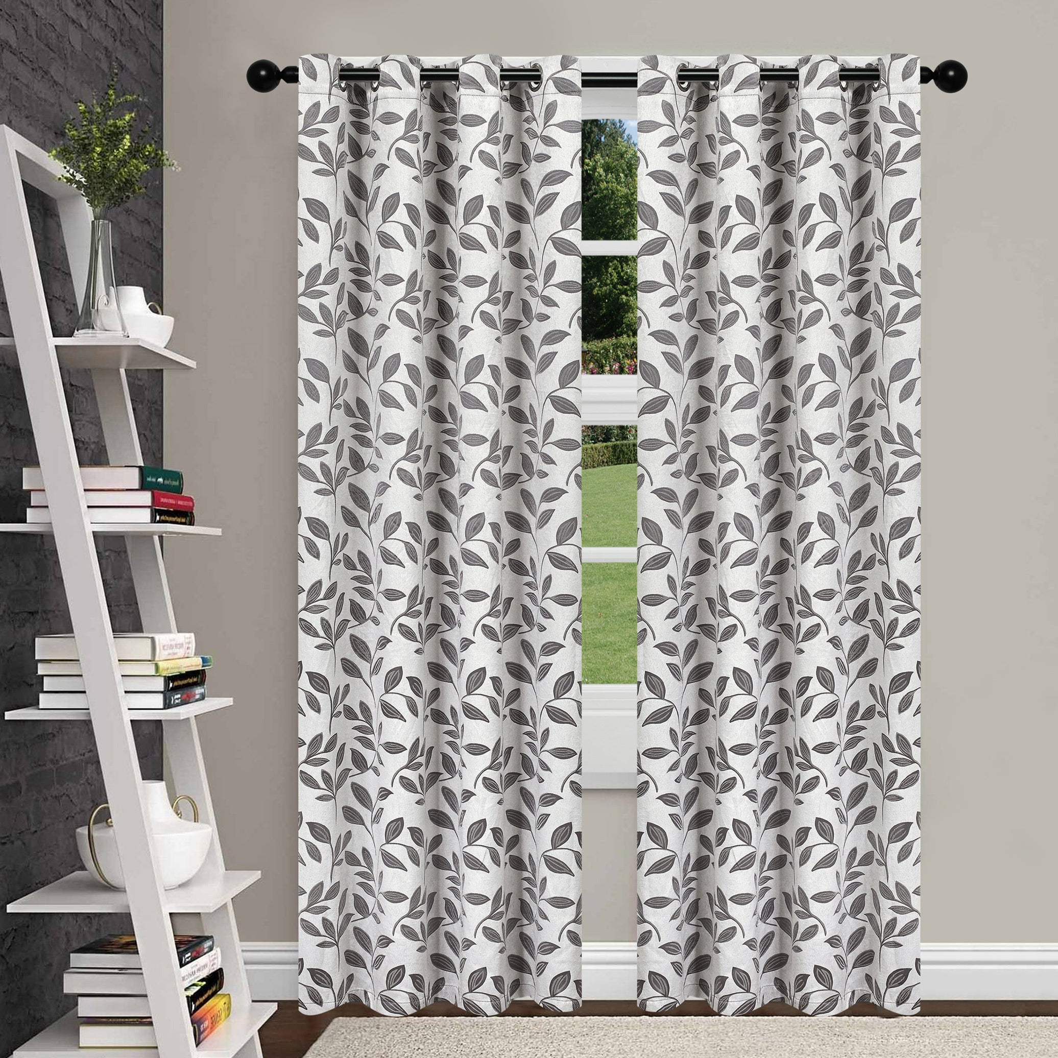 Superior Leaves Insulated Thermal Blackout Grommet Curtain Panel Pair Within Favorite Superior Leaves Insulated Thermal Blackout Grommet Curtain Panel Pairs (View 12 of 20)