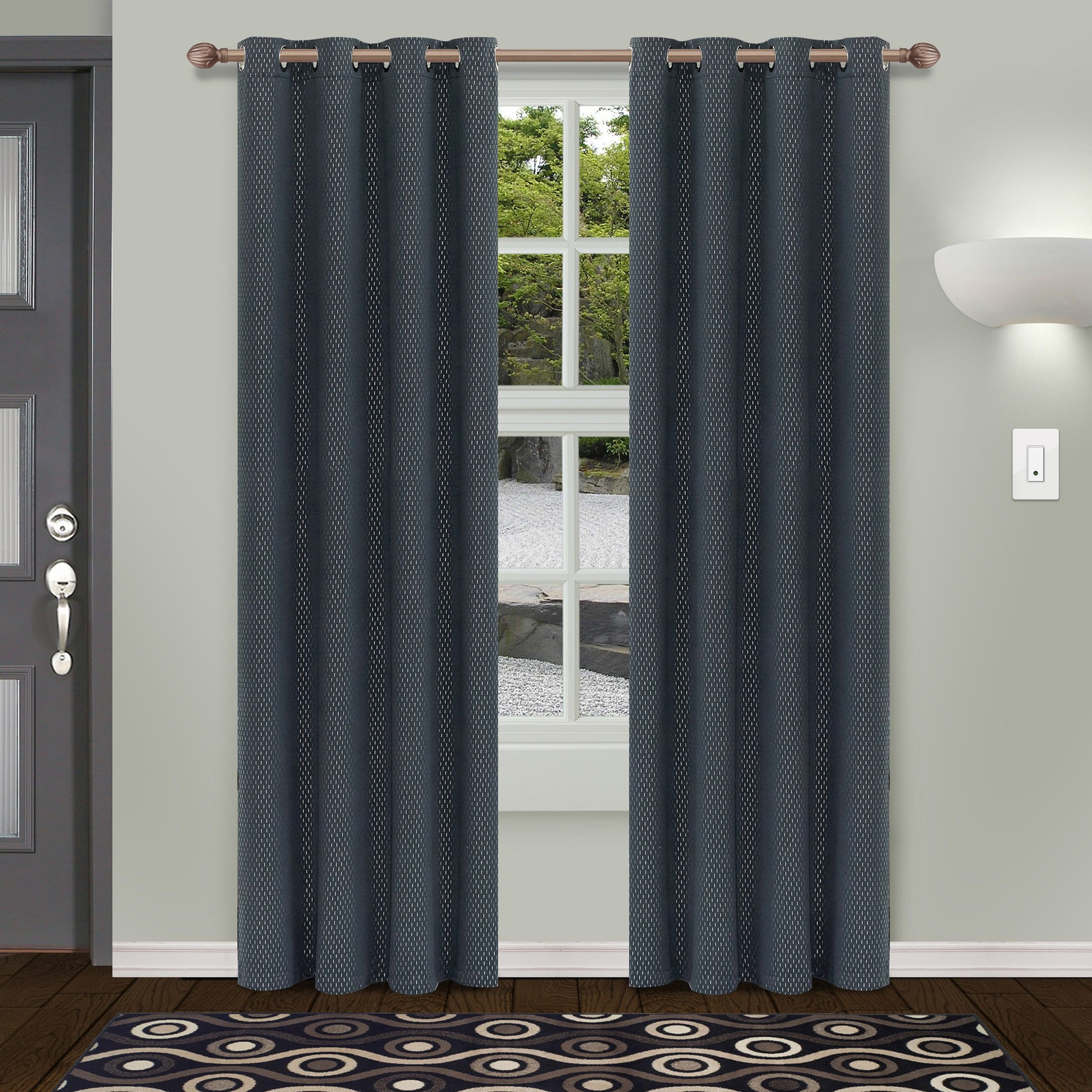 Superior Shimmer Insulated Thermal Blackout Grommet Curtain Pertaining To Recent Superior Solid Insulated Thermal Blackout Grommet Curtain Panel Pairs (View 4 of 20)