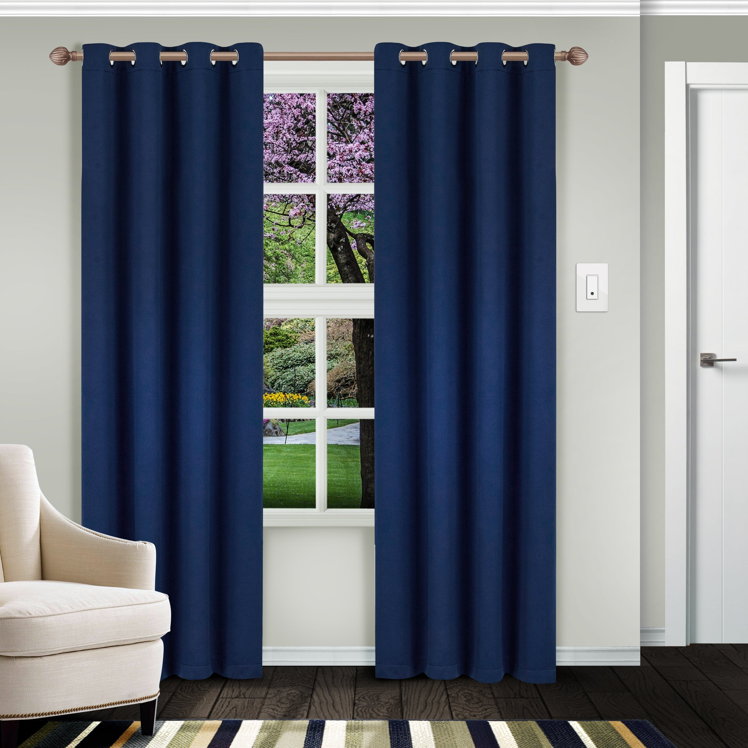Superior Solid Insulated Thermal Blackout Grommet Curtain Panel Pair In Recent Superior Solid Insulated Thermal Blackout Grommet Curtain Panel Pairs (View 15 of 20)
