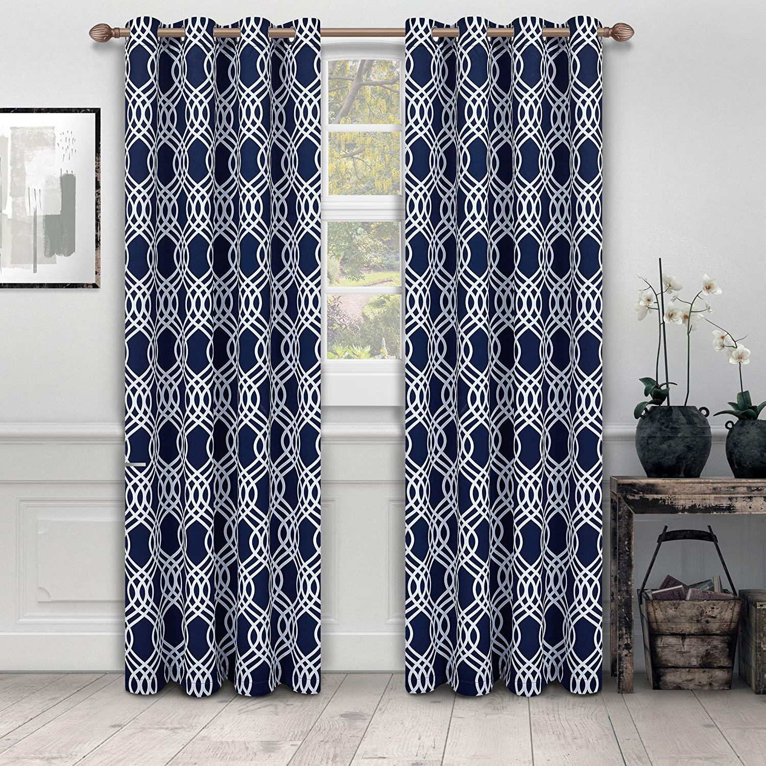 """Superior Solid Insulated Thermal Blackout Grommet Curtain Panel Pairs For Preferred Superior Ribbon Collection Quality Soft, Insulated, Thermal, Woven Blackout  Grommet Printed Curtain Panel Pair (Set Of 2) 52"""" X 63"""" – Grey (View 17 of 20)"""