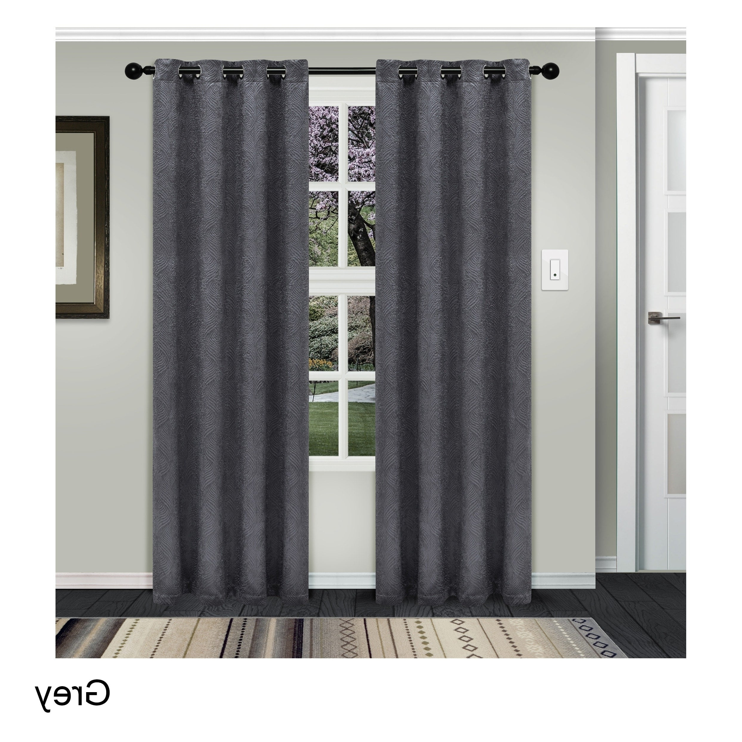 Superior Waverly Insulated Thermal Blackout Grommet Curtain Panel Pair Regarding Famous Embossed Thermal Weaved Blackout Grommet Drapery Curtains (View 14 of 20)