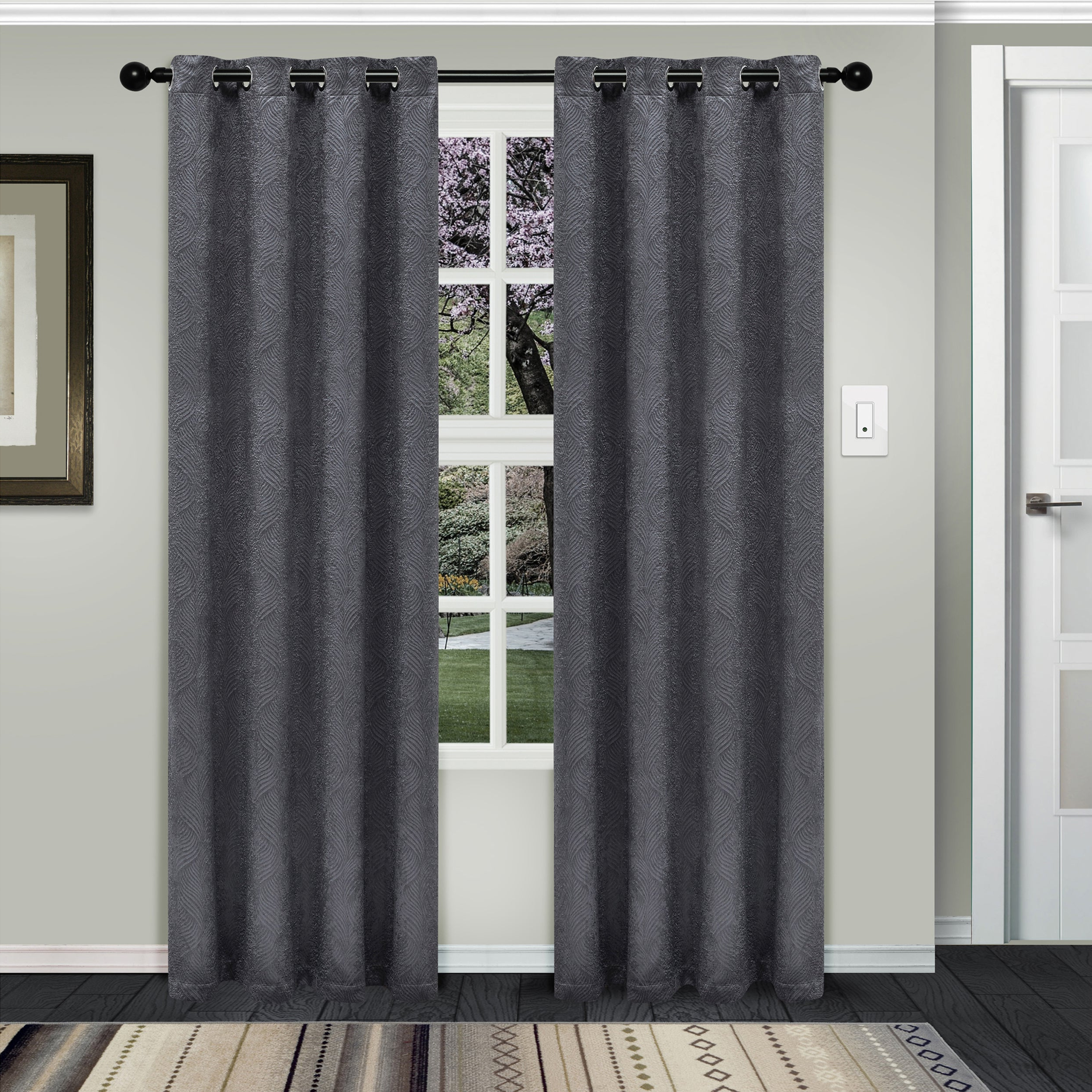 Superior Waverly Insulated Thermal Blackout Grommet Curtain Panel Pair Within Well Known Gracewood Hollow Tucakovic Energy Efficient Fabric Blackout Curtains (View 4 of 20)
