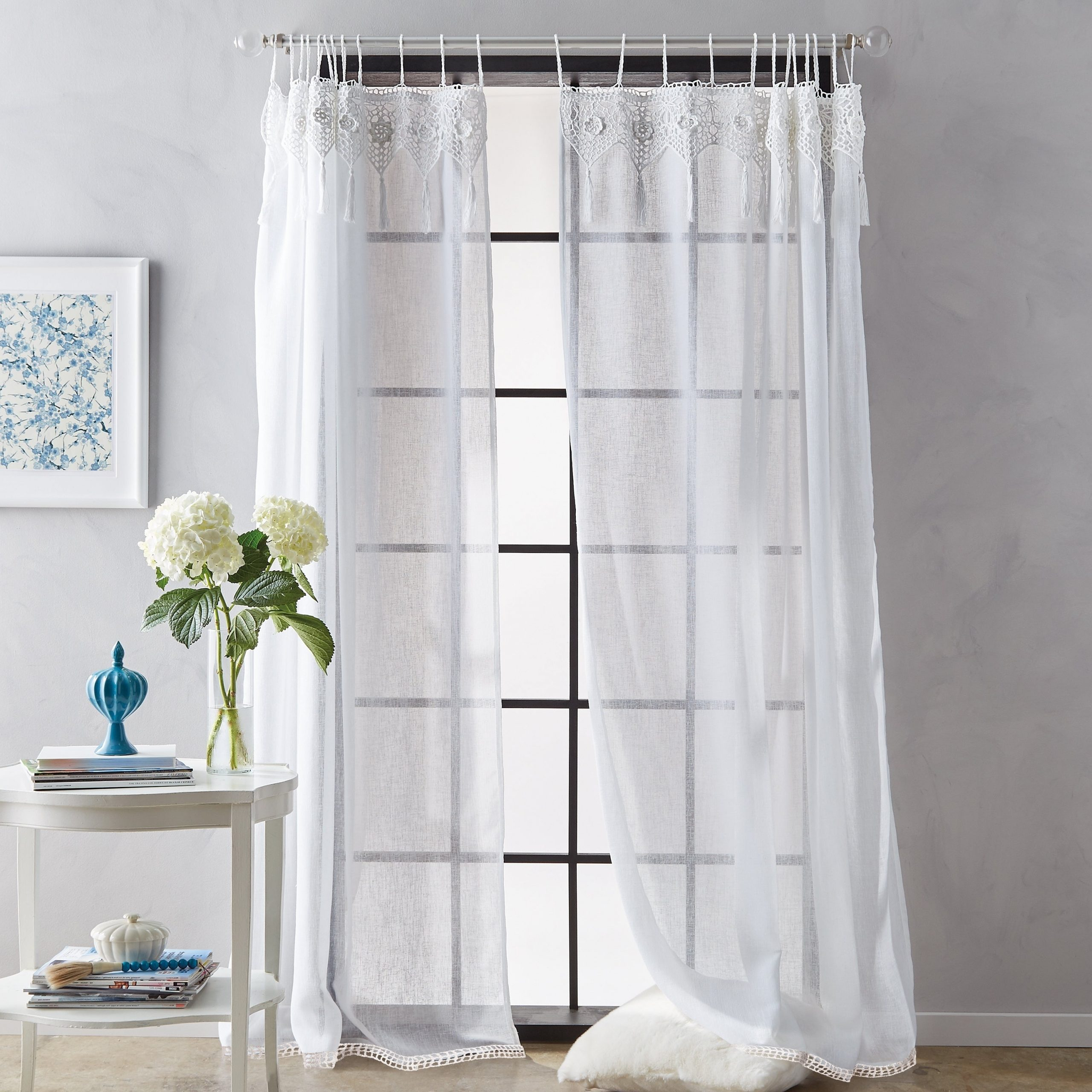 Featured Photo of Tab Top Sheer Single Curtain Panels
