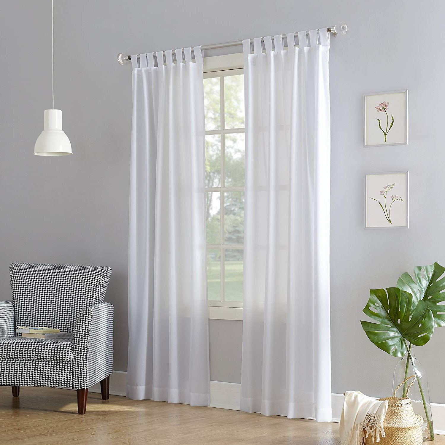 Tab Top Sheer Single Curtain Panels Within Most Recent No (View 15 of 20)