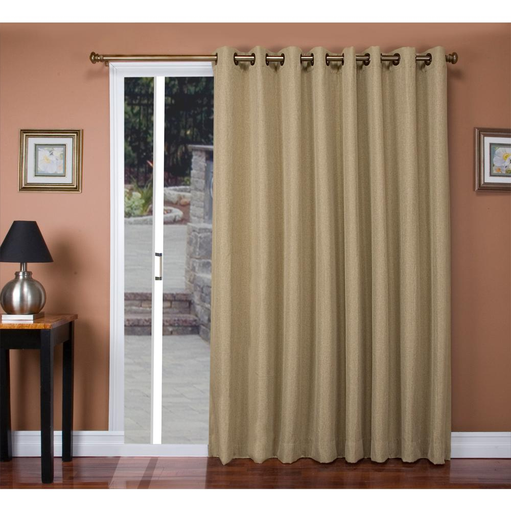Tacoma Double Blackout Grommet Curtain Panels In Latest Ricardo Trading Tacoma 106 In. W X 84 In (View 3 of 20)