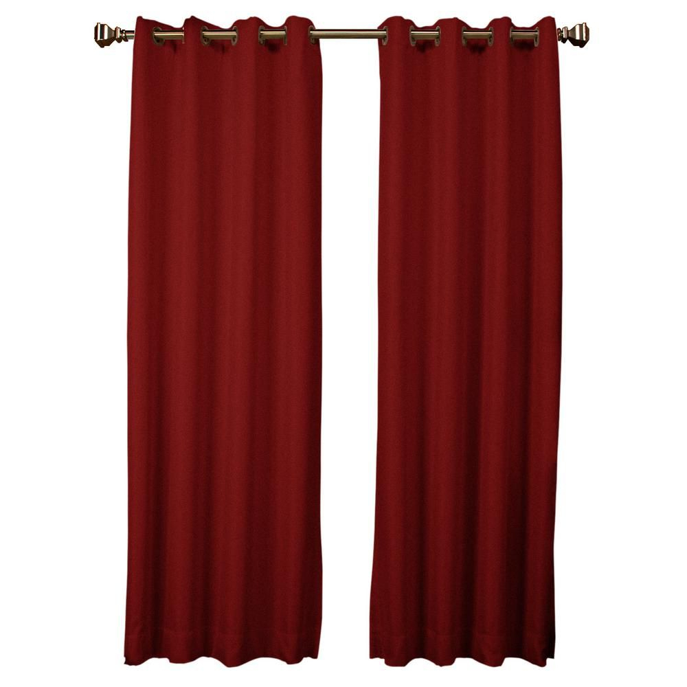 Tacoma Double Blackout Grommet Curtain Panels In Most Popular $50 Tacoma Double Blackout Curtain 50 In. W X 63 In (View 8 of 20)