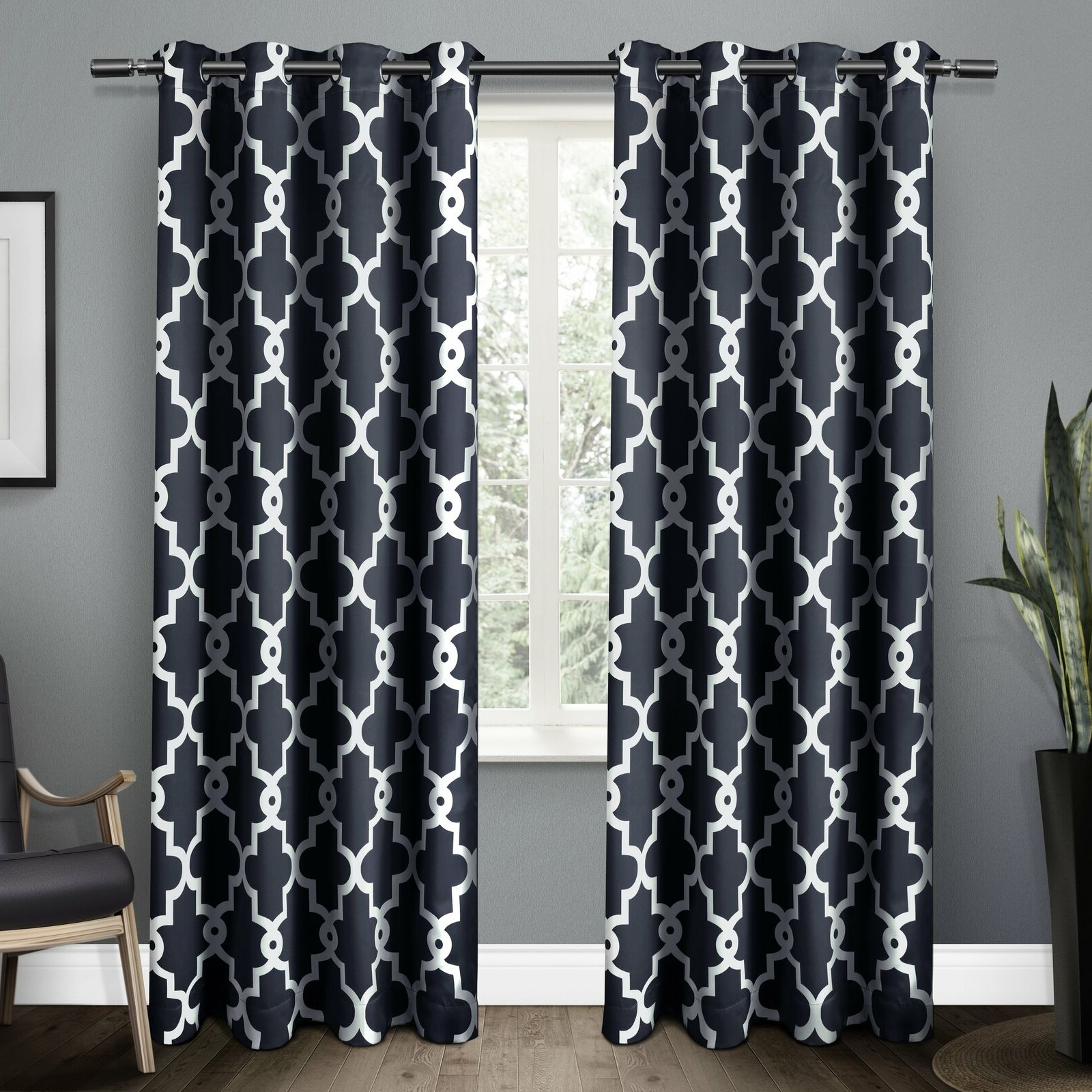 The Curated Nomad Duane Blackout Curtain Panel Pair Throughout Trendy The Curated Nomad Duane Jacquard Grommet Top Curtain Panel Pairs (View 9 of 21)