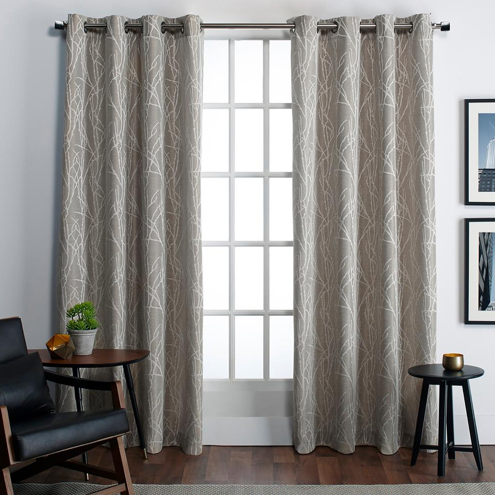 The Curated Nomad Duane Jacquard Grommet Top Curtain Panel Pairs In Famous Amalgamated Textiles Finesse 54 In. W X 84 In (View 11 of 21)