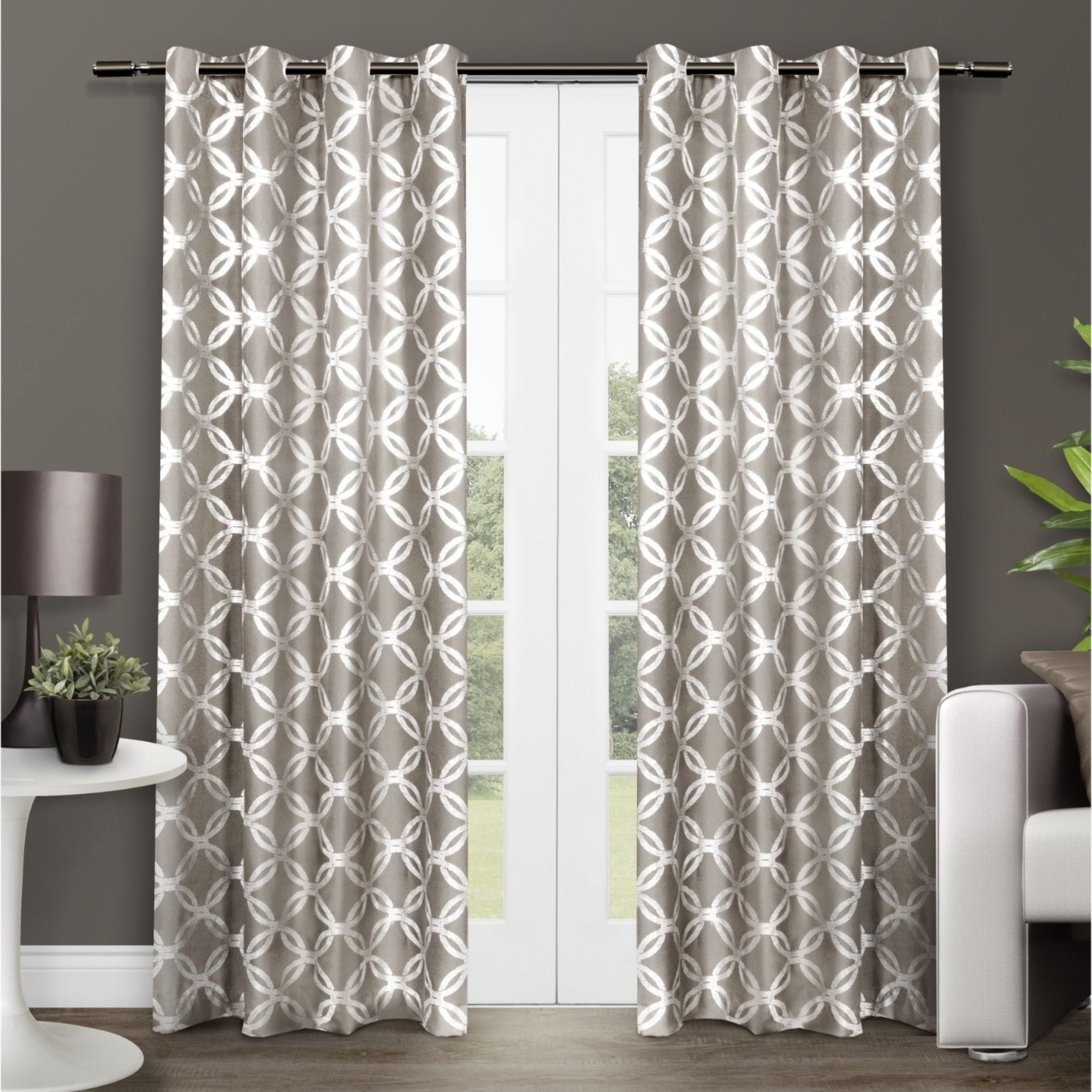 The Curated Nomad Duane Jacquard Grommet Top Curtain Panel Pairs Inside Most Recently Released The Curated Nomad Sloat Metallic Geometric Grommet Top Curtain Panel Pair (View 2 of 21)
