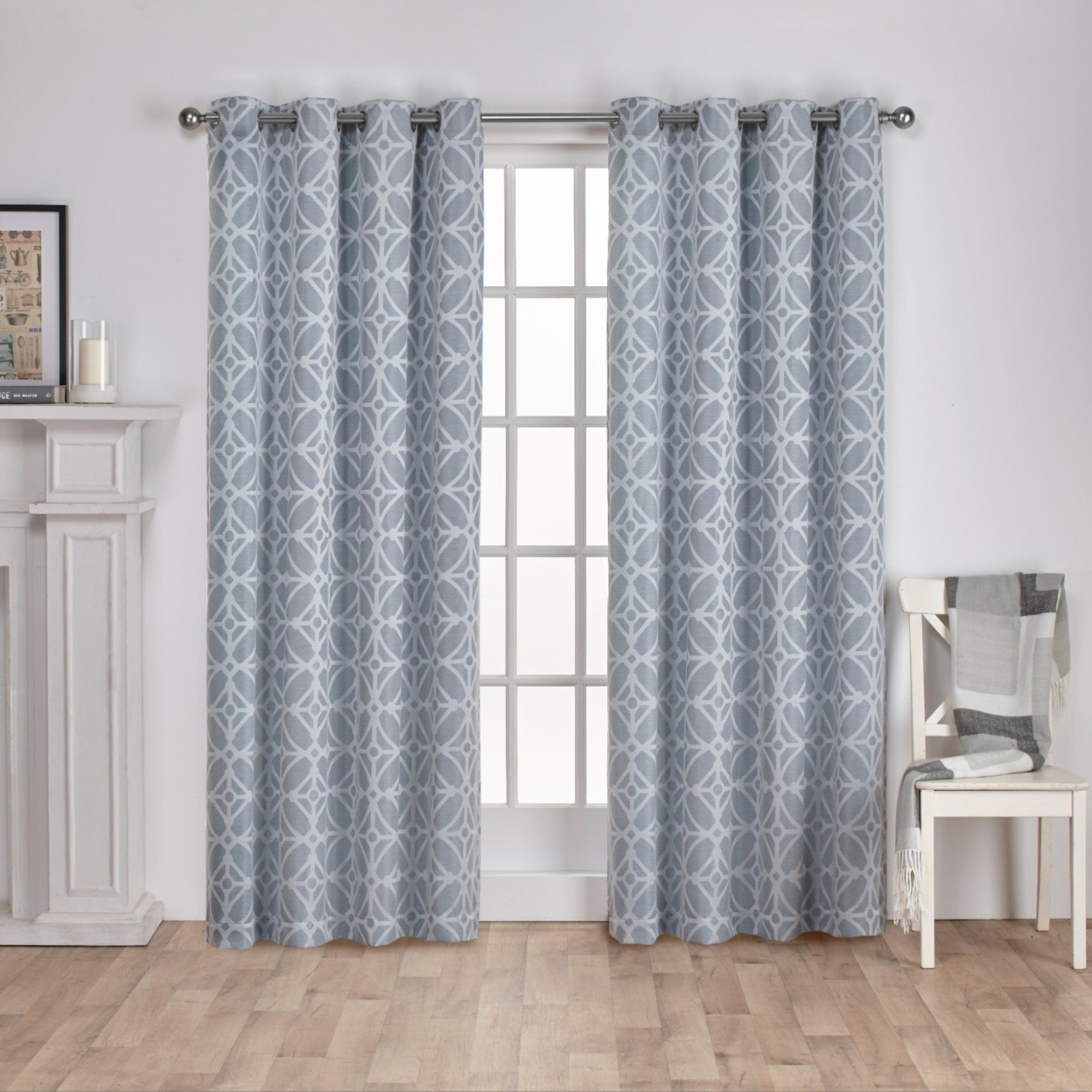The Curated Nomad Market St Jacquard Grommet Top Curtain Panel Pair Pertaining To Preferred The Curated Nomad Duane Jacquard Grommet Top Curtain Panel Pairs (View 13 of 21)