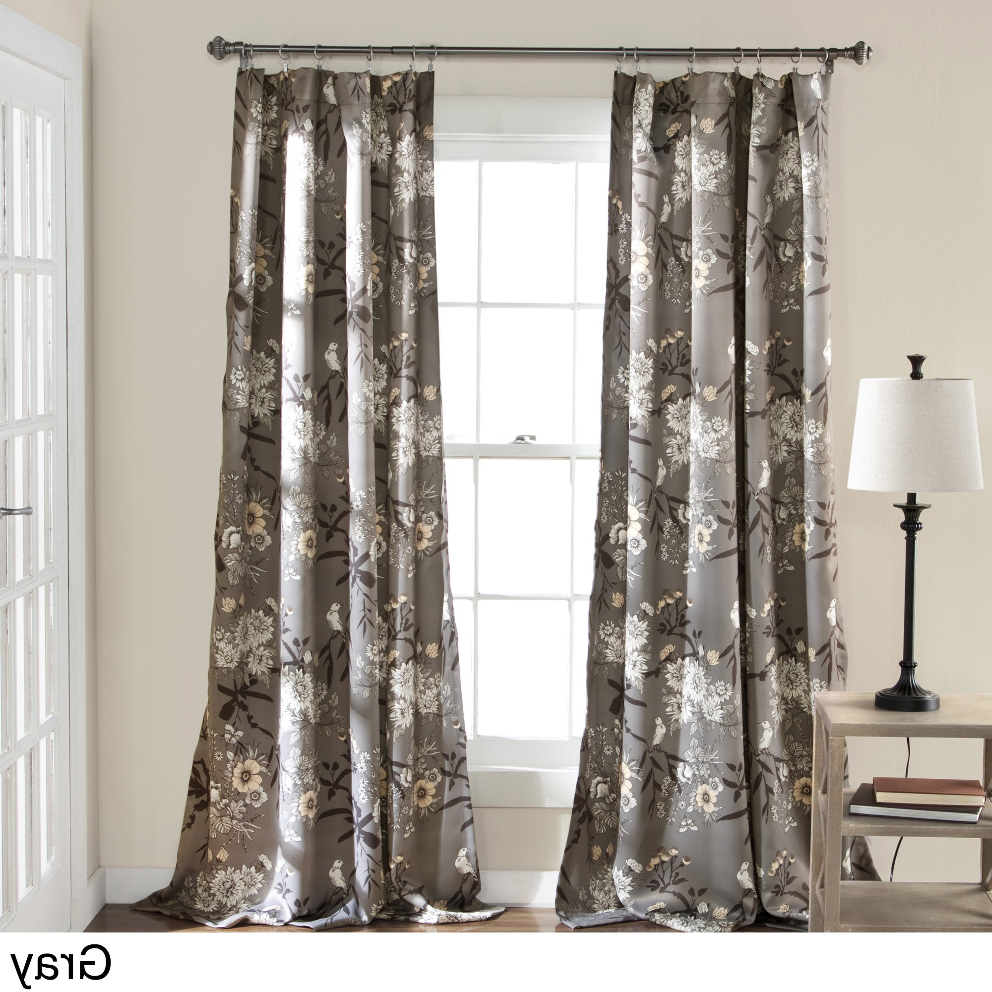 Featured Photo of Gray Barn Dogwood Floral Curtain Panel Pairs