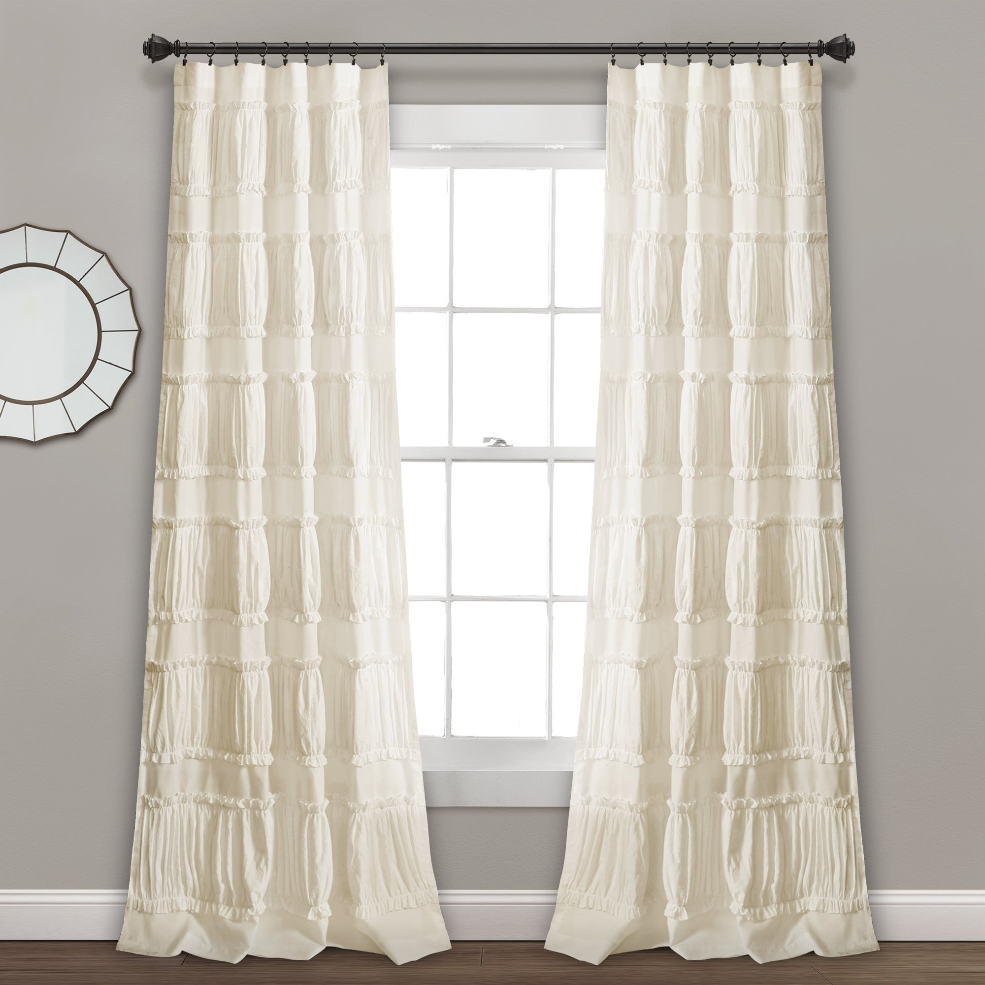 The Gray Barn Kind Koala Curtain Panel Pairs In Current Lush Decor Nova Ruffle Window Curtain Panel Pair (View 4 of 20)