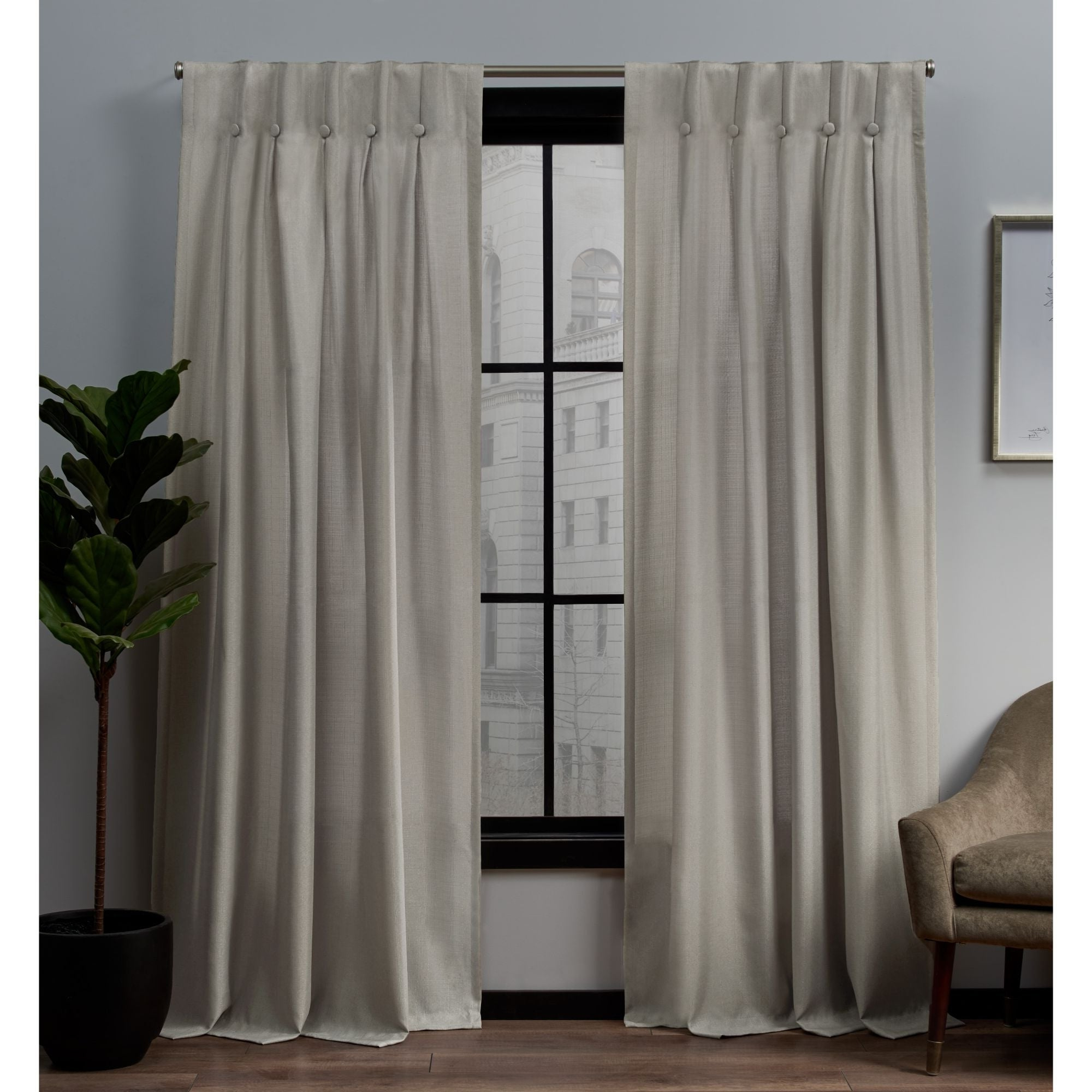The Gray Barn Kind Koala Curtain Panel Pairs With Regard To Most Recent Copper Grove Popovo Linen Button Top Window Curtain Panel Pair (View 7 of 20)
