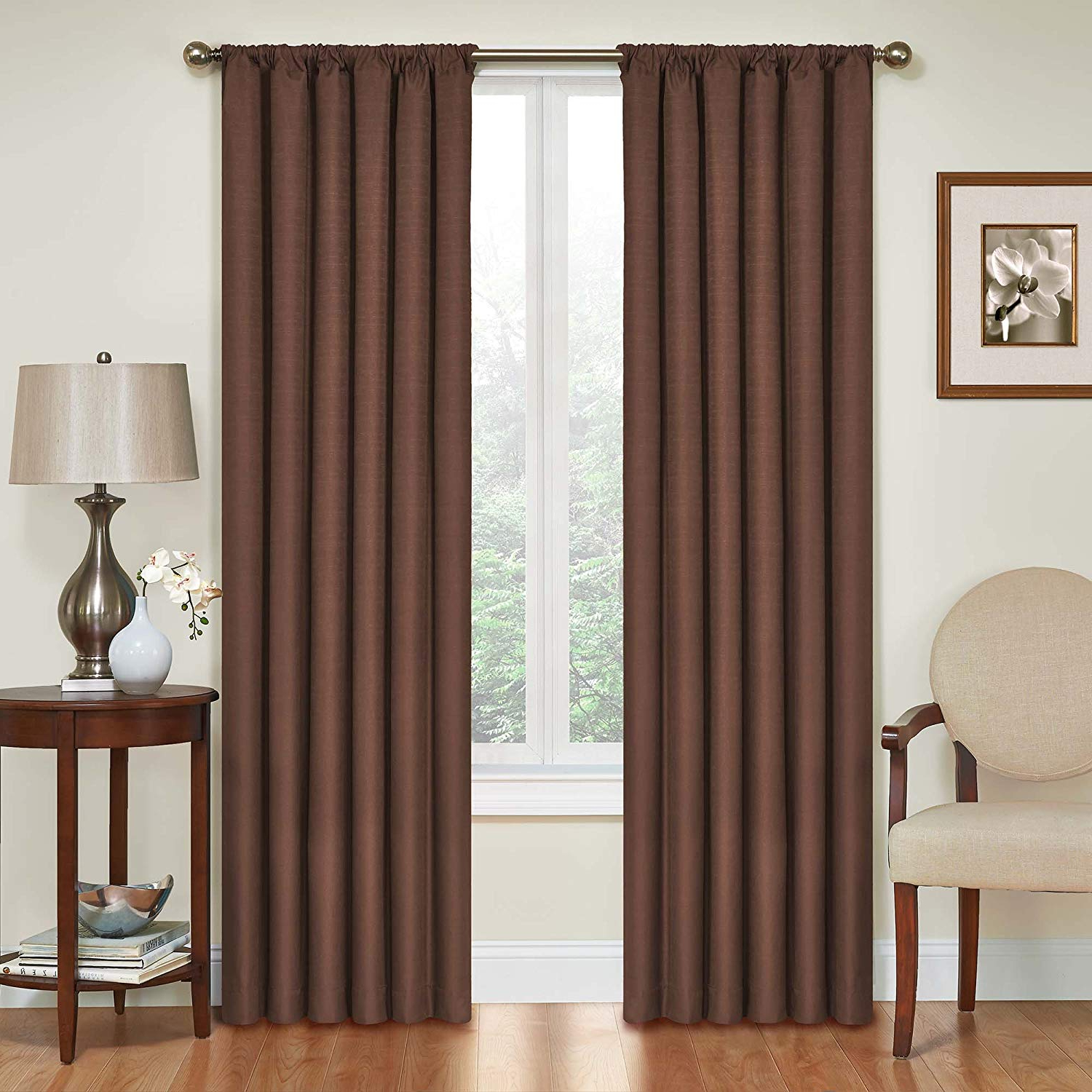 Thermaback Blackout Window Curtains For 2021 Buy Eclipse 10707042x095chc Kendall 42 Inch95 Inch (View 10 of 20)