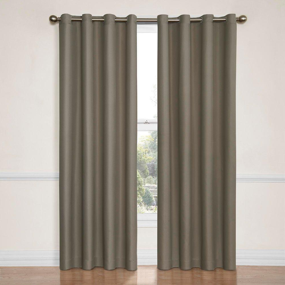 Thermaback Blackout Window Curtains Inside Well Known Eclipse Dane Blackout Window Curtain Panel In Smoke – 52 In. W X 63 In (View 4 of 20)
