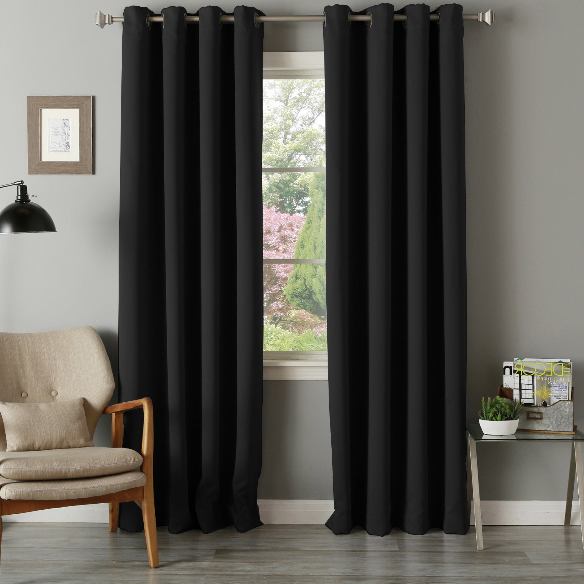 Thermal Insulated Blackout Curtain Panel Pairs With Regard To Most Recent Aurora Home Grommet Top Thermal Insulated 96 Inch Blackout Curtain Panel  Pair – 52 X  (View 18 of 20)