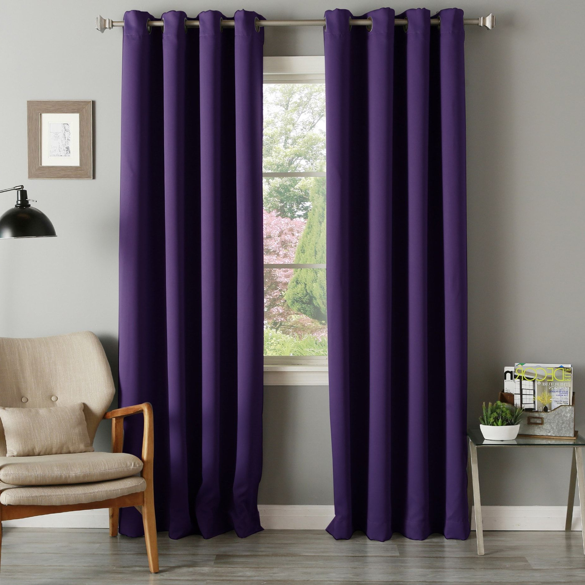 Thermal Insulated Blackout Grommet Top Curtain Panel Pairs In 2021 Aurora Home Grommet Top Thermal Insulated 96 Inch Blackout (View 14 of 20)