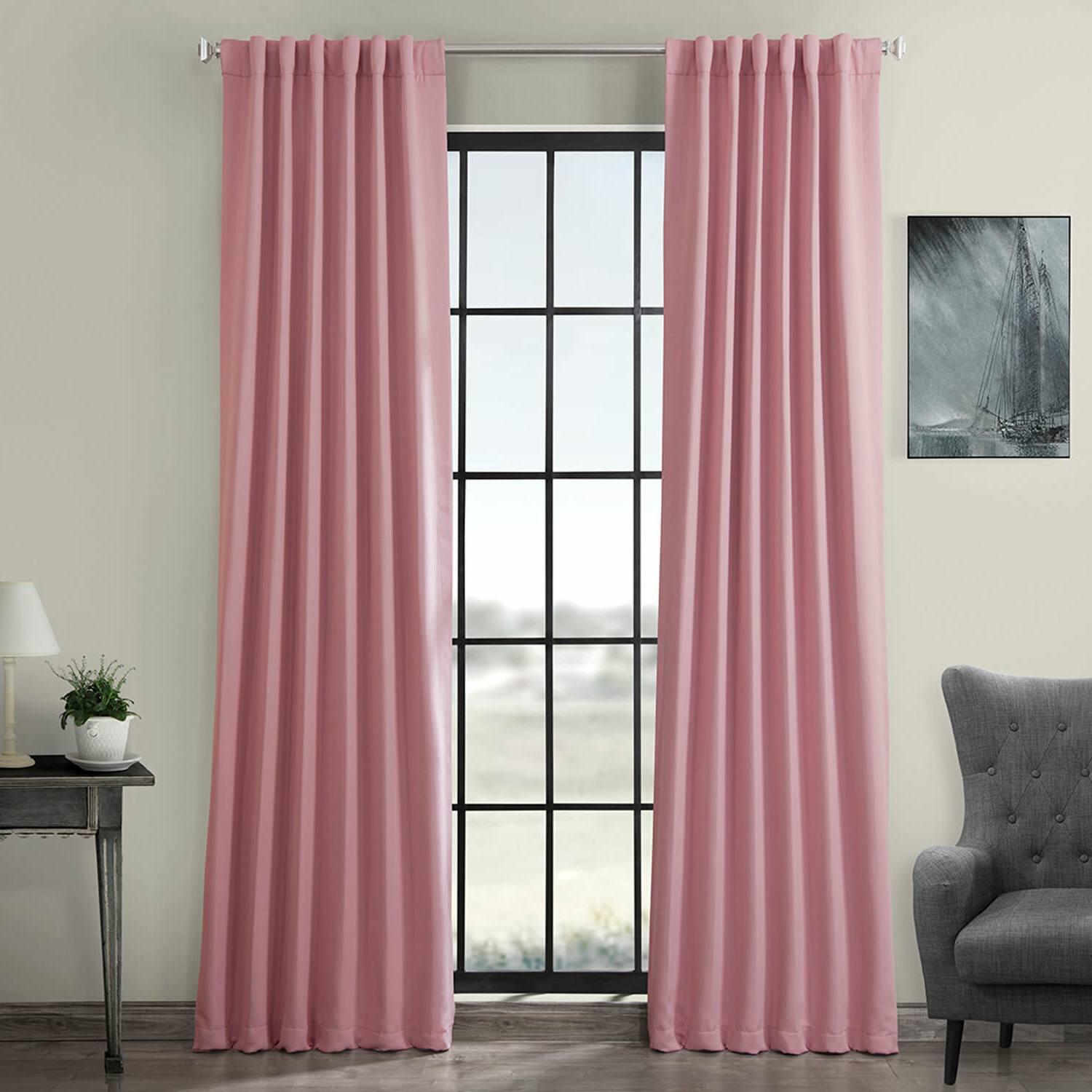 Thermal Rod Pocket Blackout Curtain Panel Pairs Throughout Well Known Destinie Indoor Solid Color Blackout Curtain Rod Pocket Panel Pair (View 14 of 20)