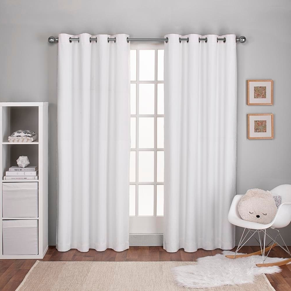 Thermal Textured Linen Grommet Top Curtain Panel Pairs In Famous Ati Home Linen Thermal Woven Blackout Grommet Top Curtain (View 6 of 20)