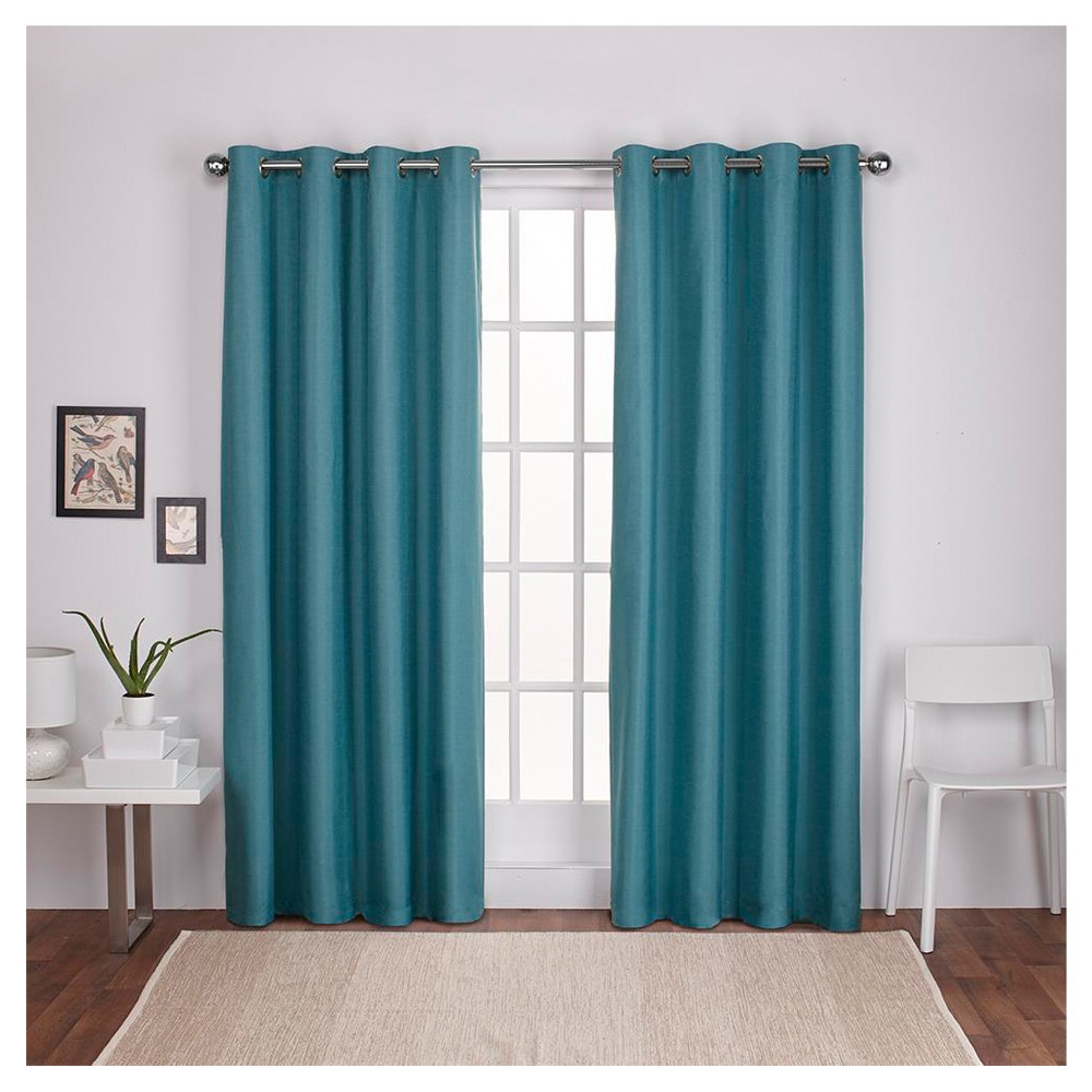Thermal Textured Linen Grommet Top Curtain Panel Pairs In Fashionable London Thermal Textured Linen Grommet Top Window Curtain (View 15 of 20)