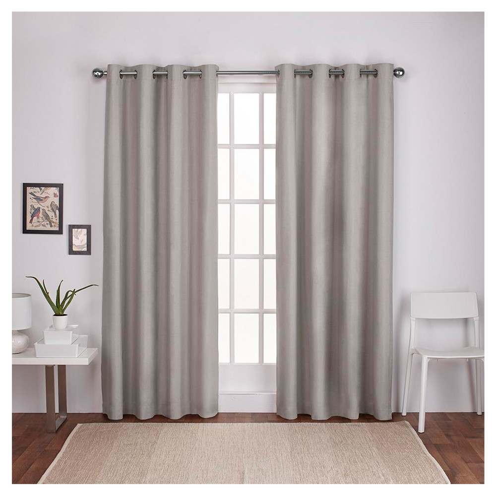 Featured Photo of Thermal Textured Linen Grommet Top Curtain Panel Pairs